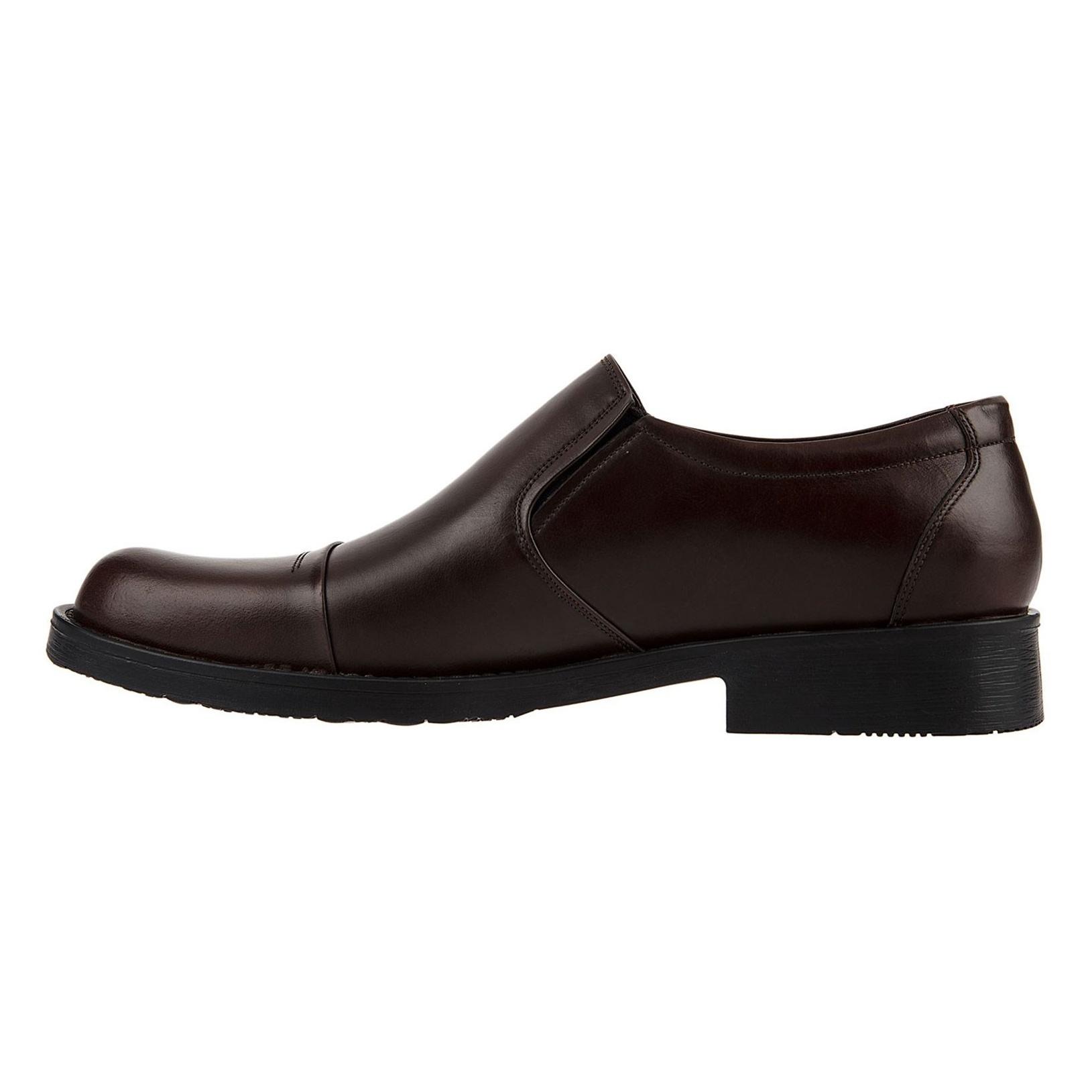کفش اداری چرم مردانه - پانیسا - قهوه اي  - 3