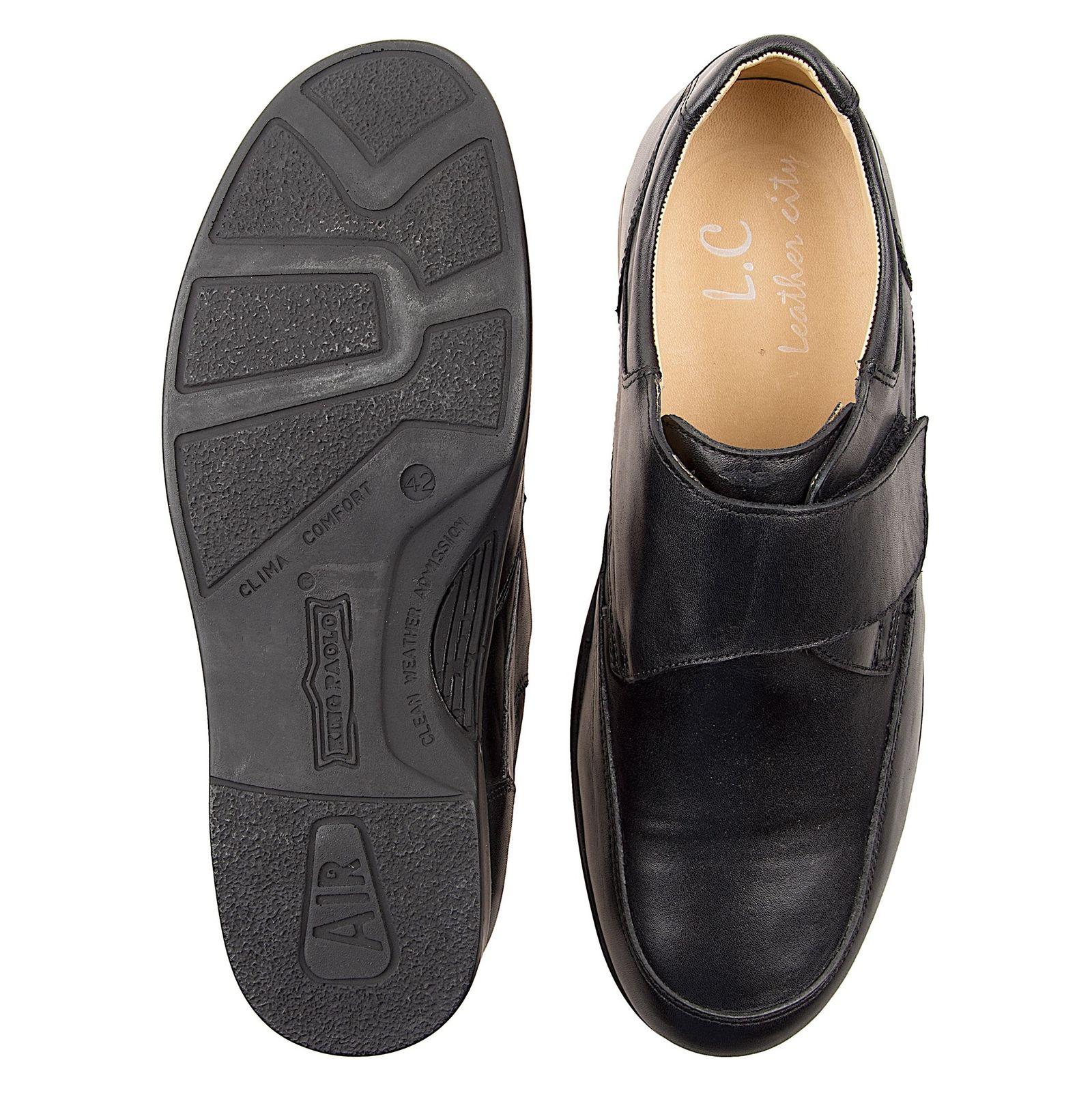 کفش اداری چرم مردانه - شهر چرم - مشکي - 2