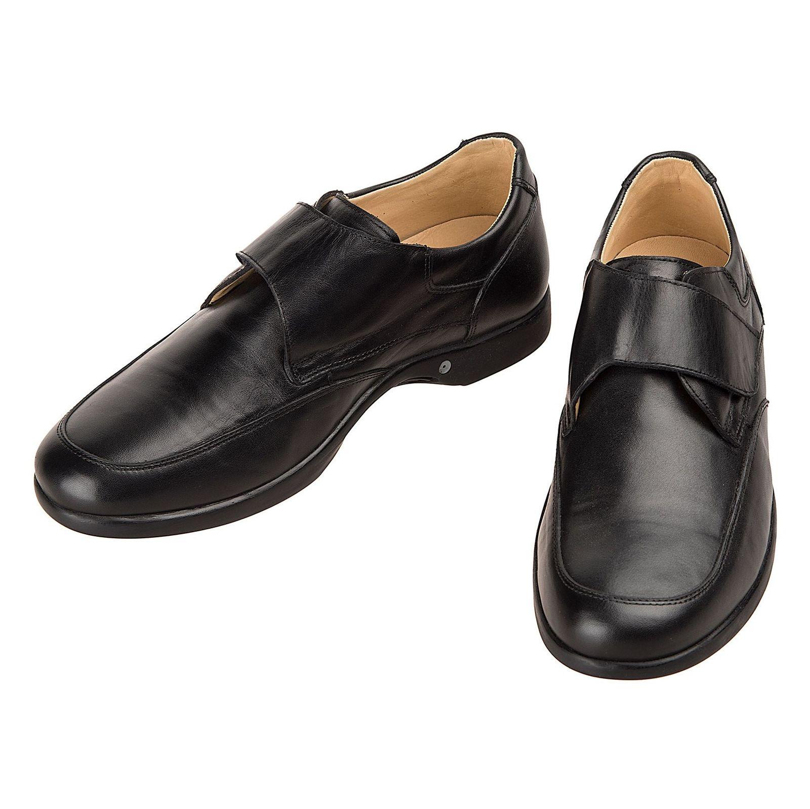 کفش اداری چرم مردانه - شهر چرم - مشکي - 4