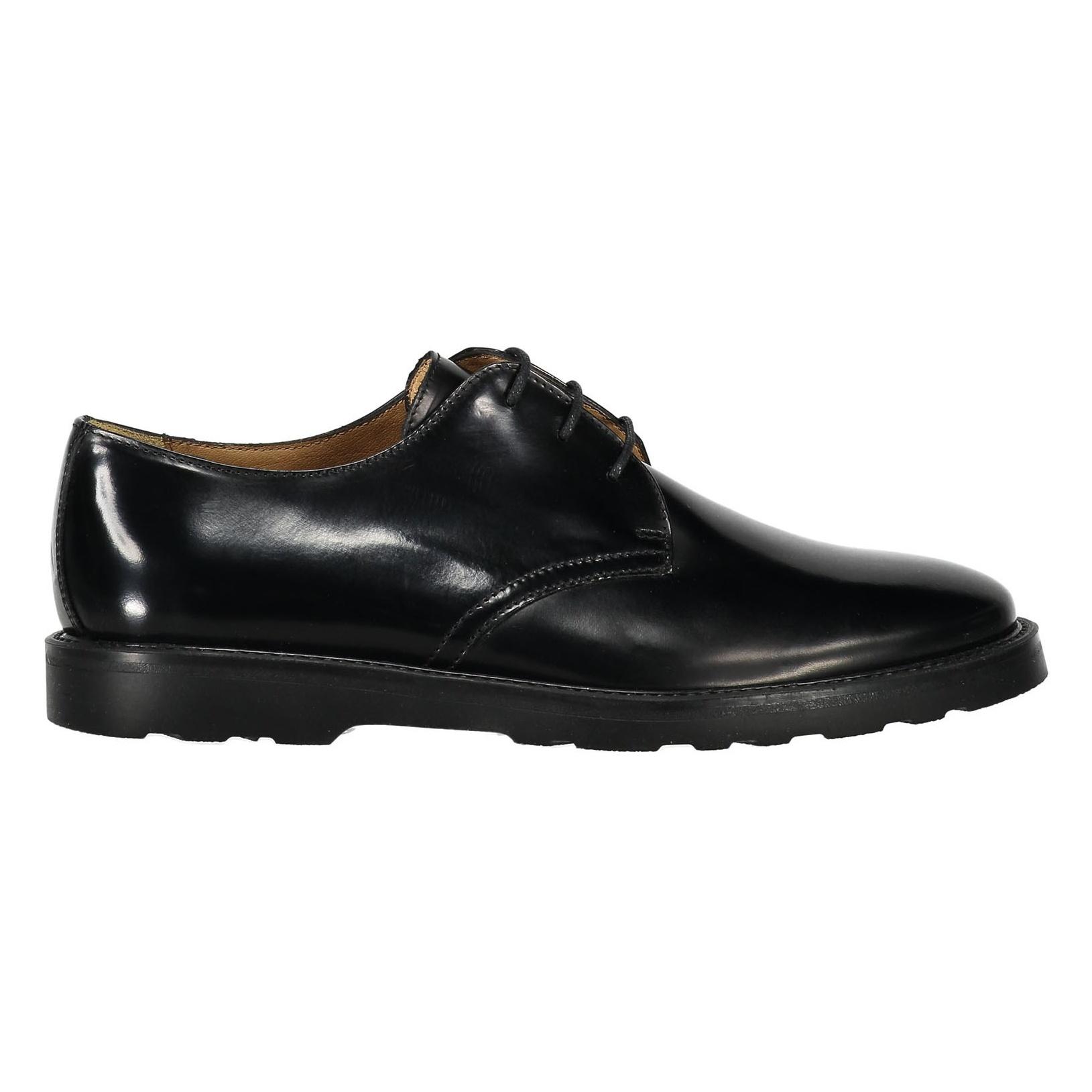کفش چرم رسمی مردانه - سولدینی - مشکي  - 1