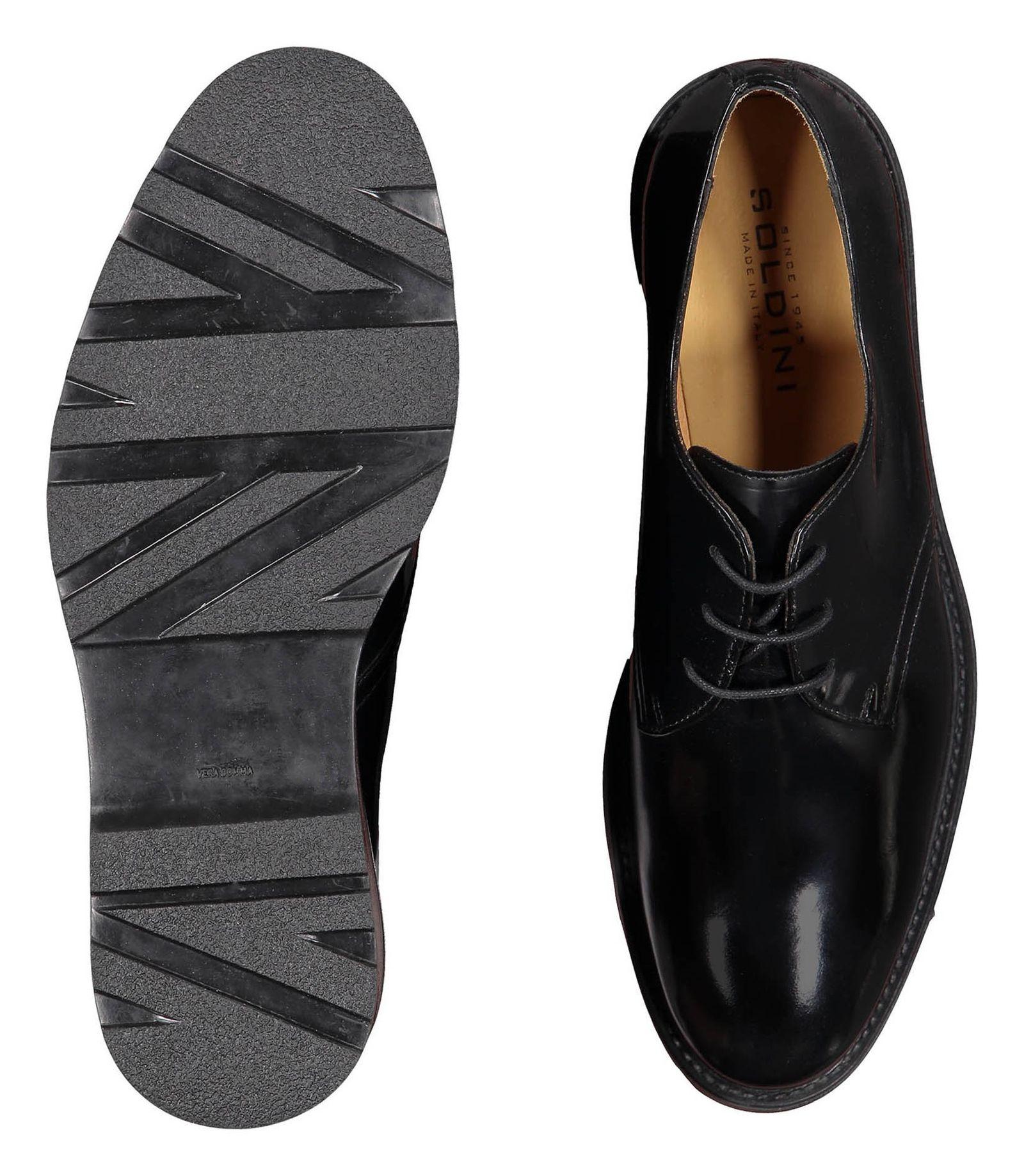 کفش چرم رسمی مردانه - سولدینی - مشکي  - 2
