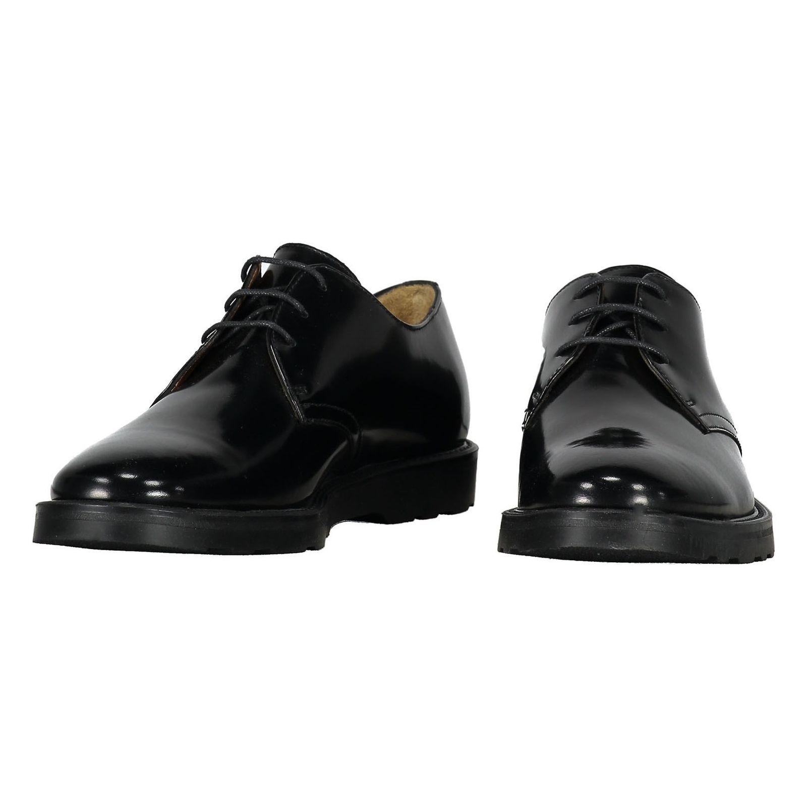 کفش چرم رسمی مردانه - سولدینی - مشکي  - 4