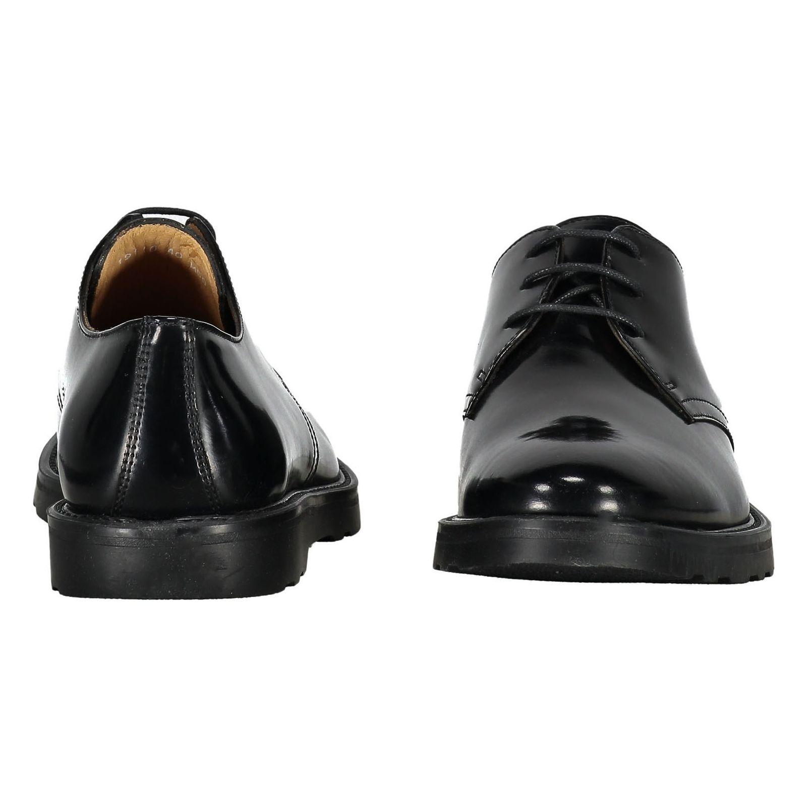 کفش چرم رسمی مردانه - سولدینی - مشکي  - 5