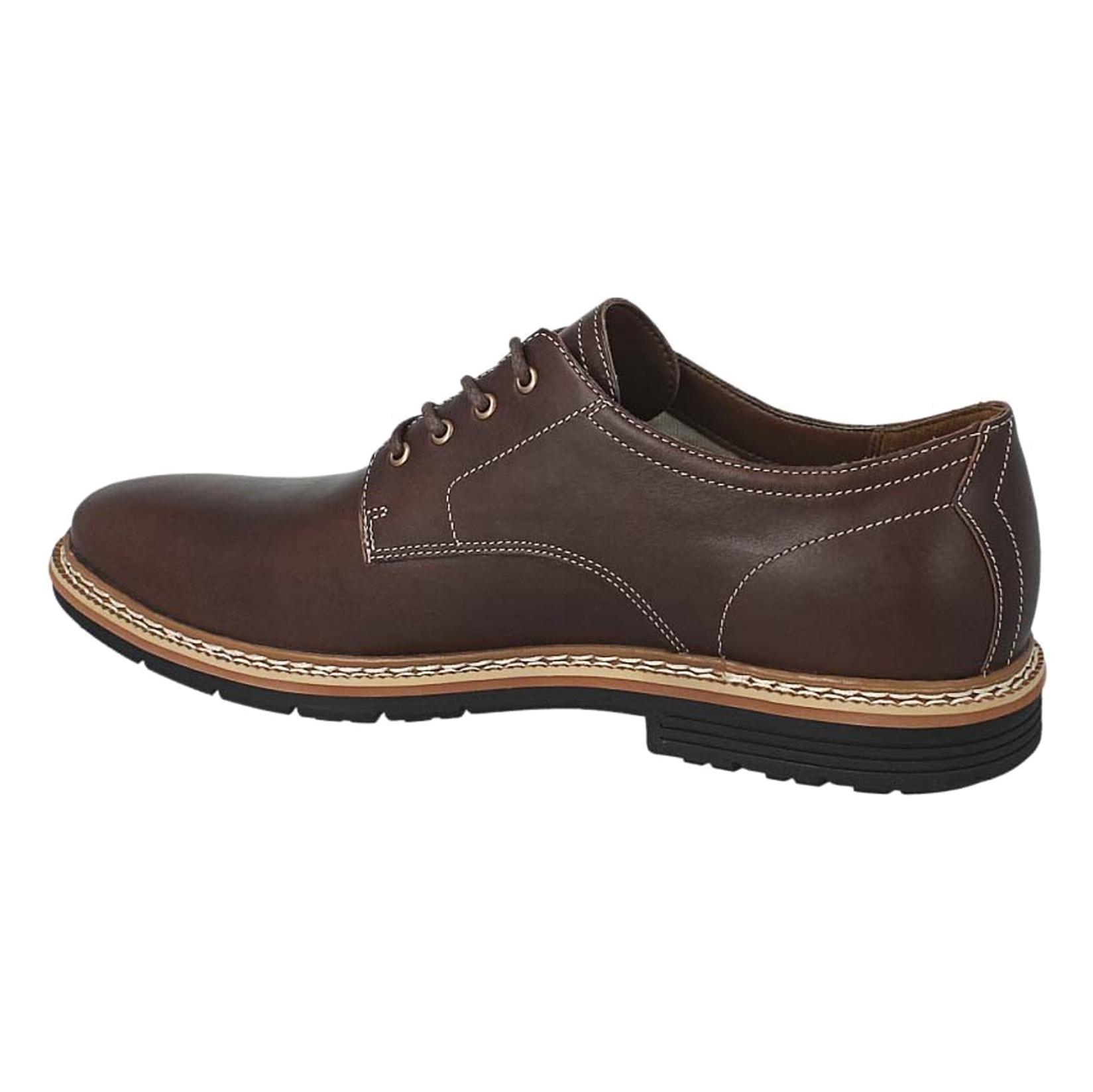 کفش اداری چرم مردانه - تیمبرلند - قهوه اي - 4