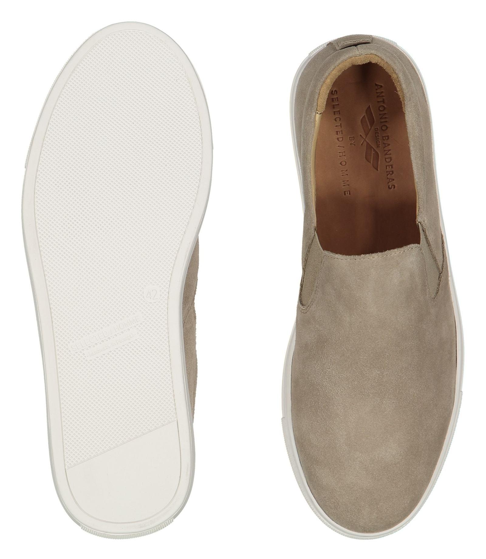 کفش جیر راحتی مردانه - سلکتد - بژ - 2