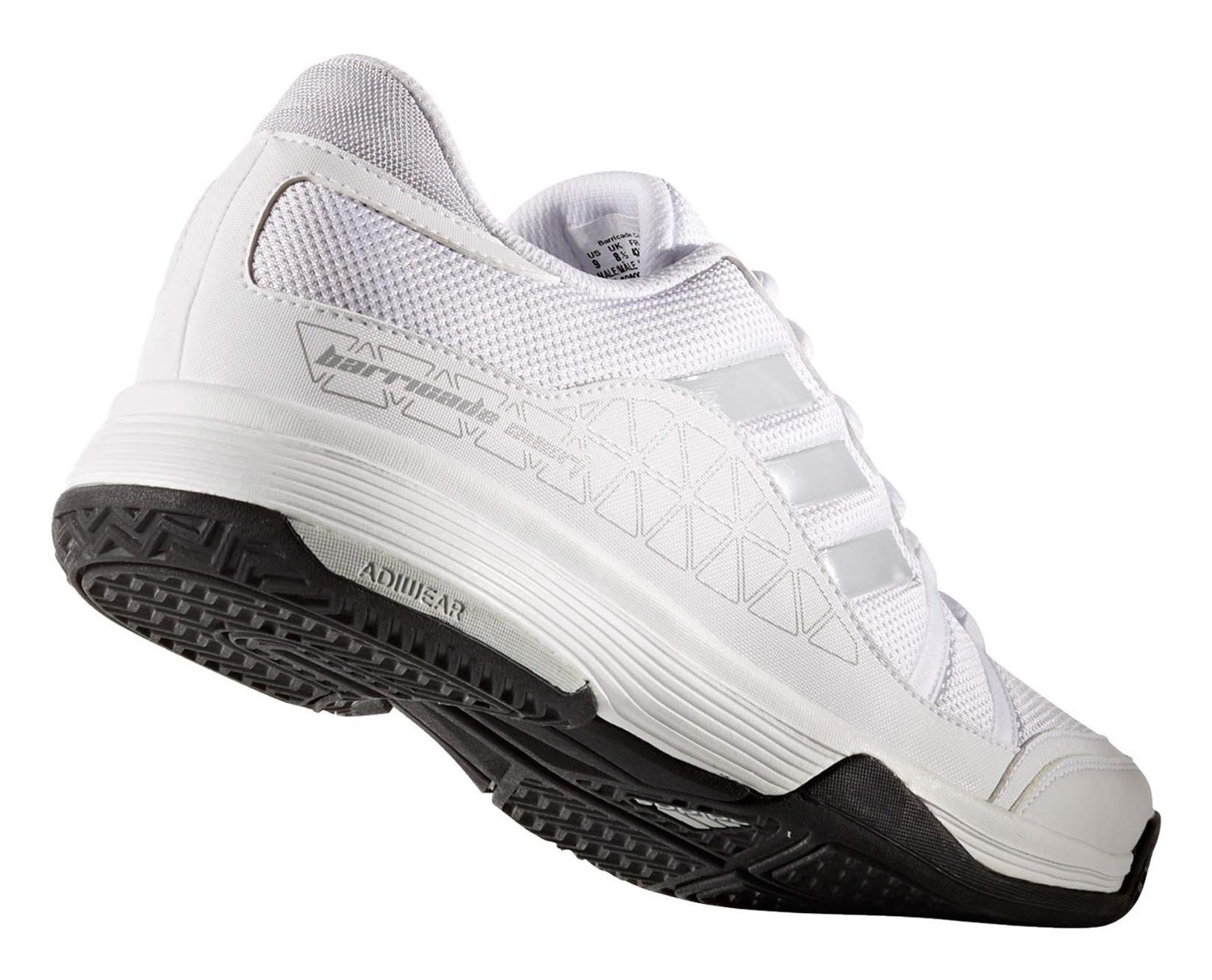 کفش تنیس بندی مردانه Barricade Club - آدیداس - سفيد - 3