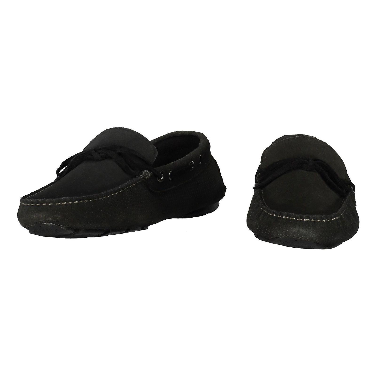 کفش راحتی چرم مردانه Driver - سوپردرای - زغالي - 4