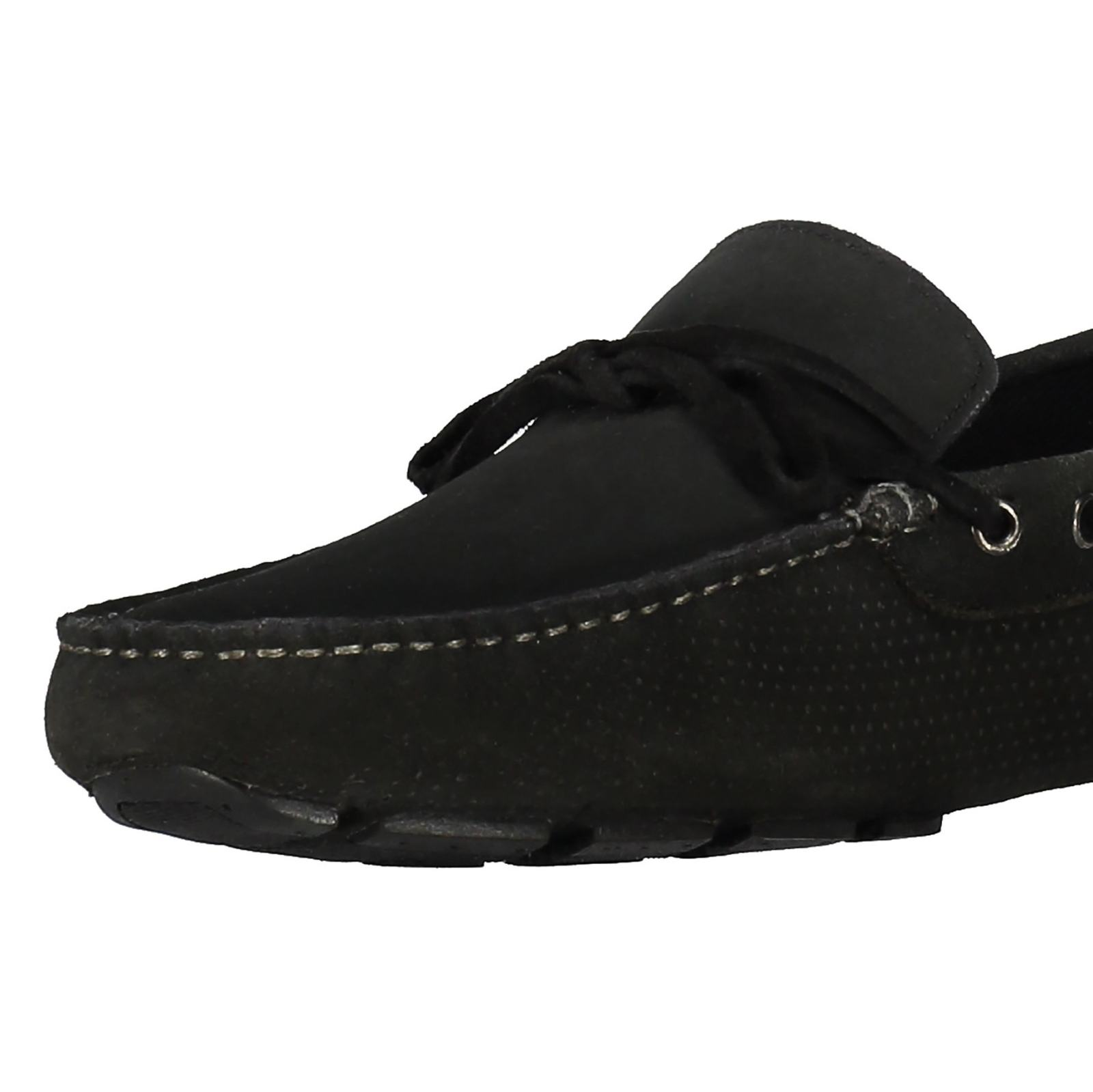 کفش راحتی چرم مردانه Driver - سوپردرای - زغالي - 6