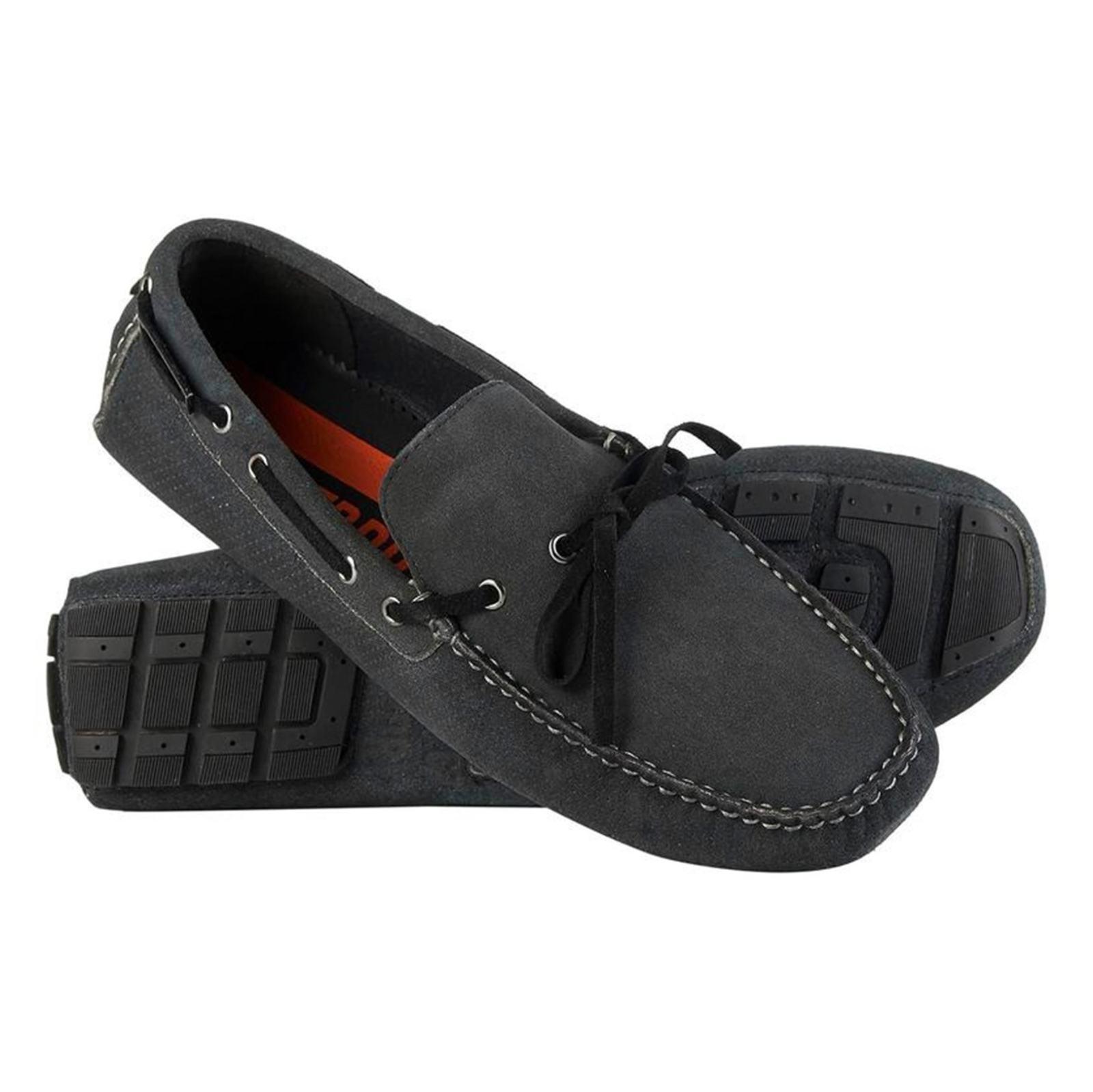 کفش راحتی چرم مردانه Driver - سوپردرای - زغالي - 7