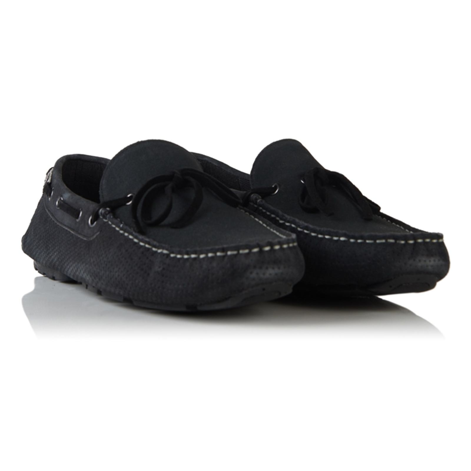 کفش راحتی چرم مردانه Driver - سوپردرای - زغالي - 8