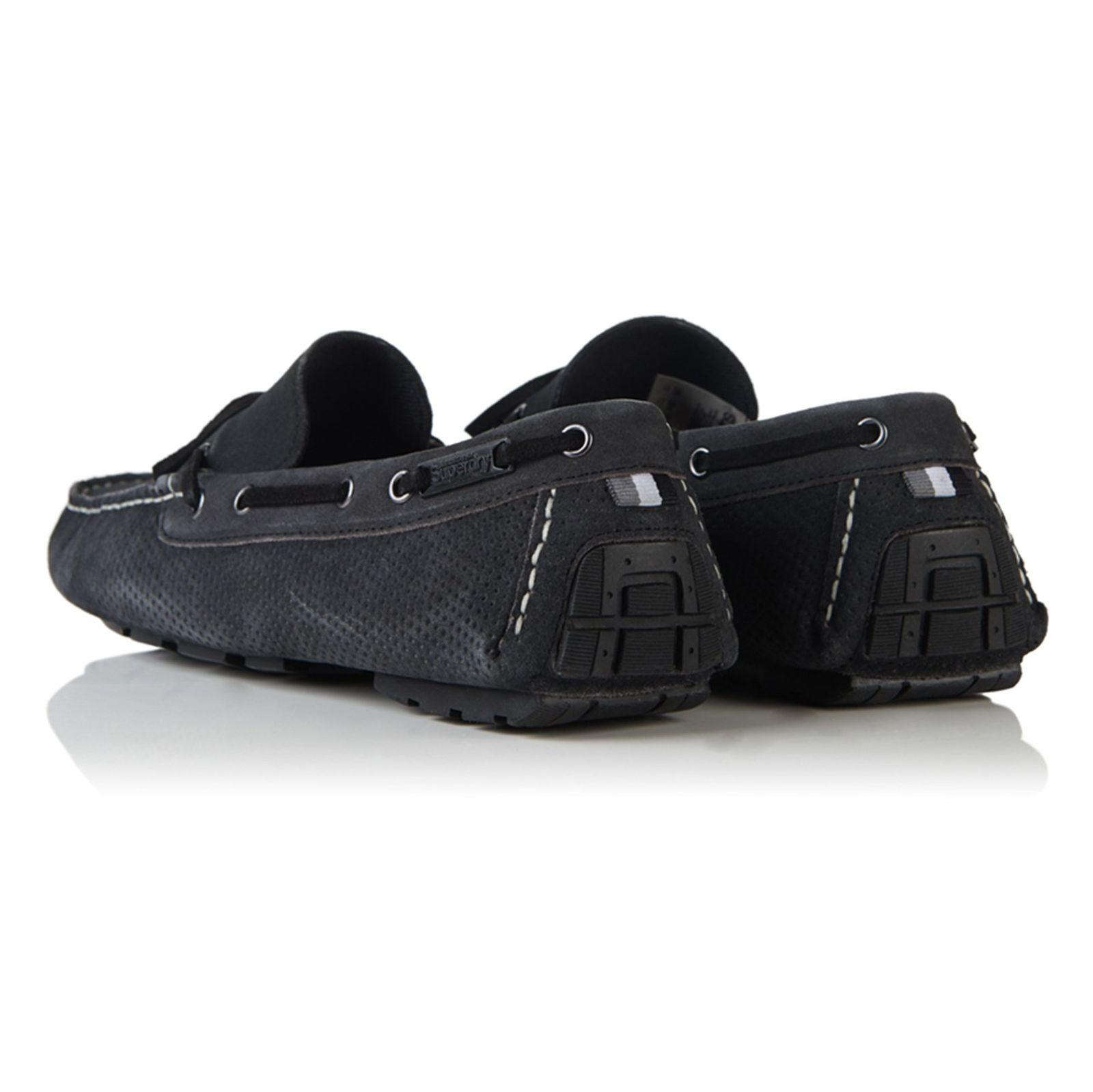 کفش راحتی چرم مردانه Driver - سوپردرای - زغالي - 9