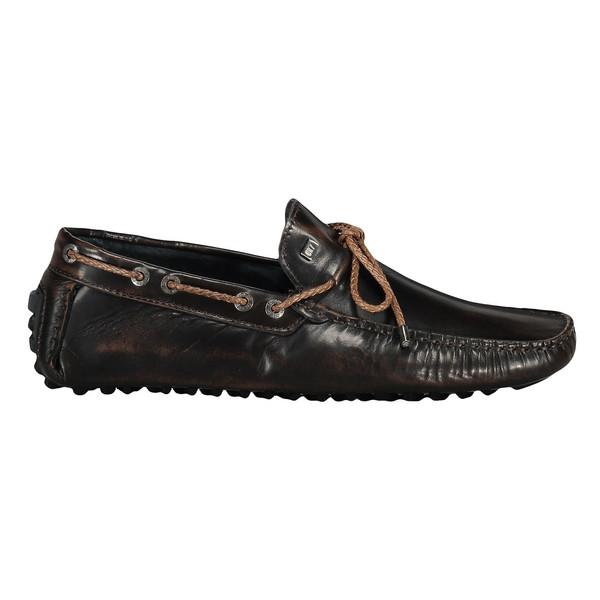 کفش راحتی چرم مردانه - سی آر سون