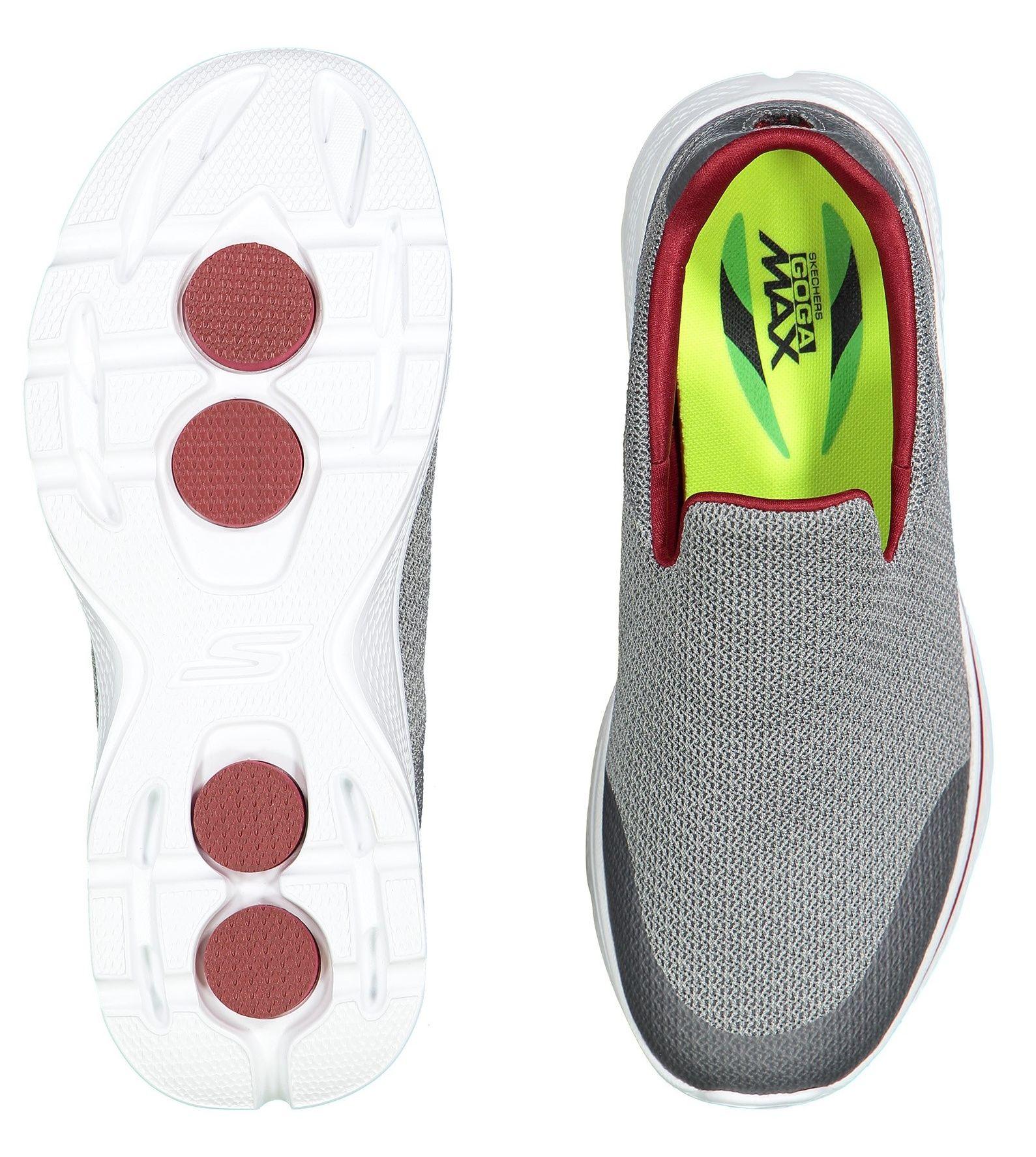 کفش پیاده روی پارچه ای مردانه GOwalk 4 Expert - اسکچرز - طوسي - 2