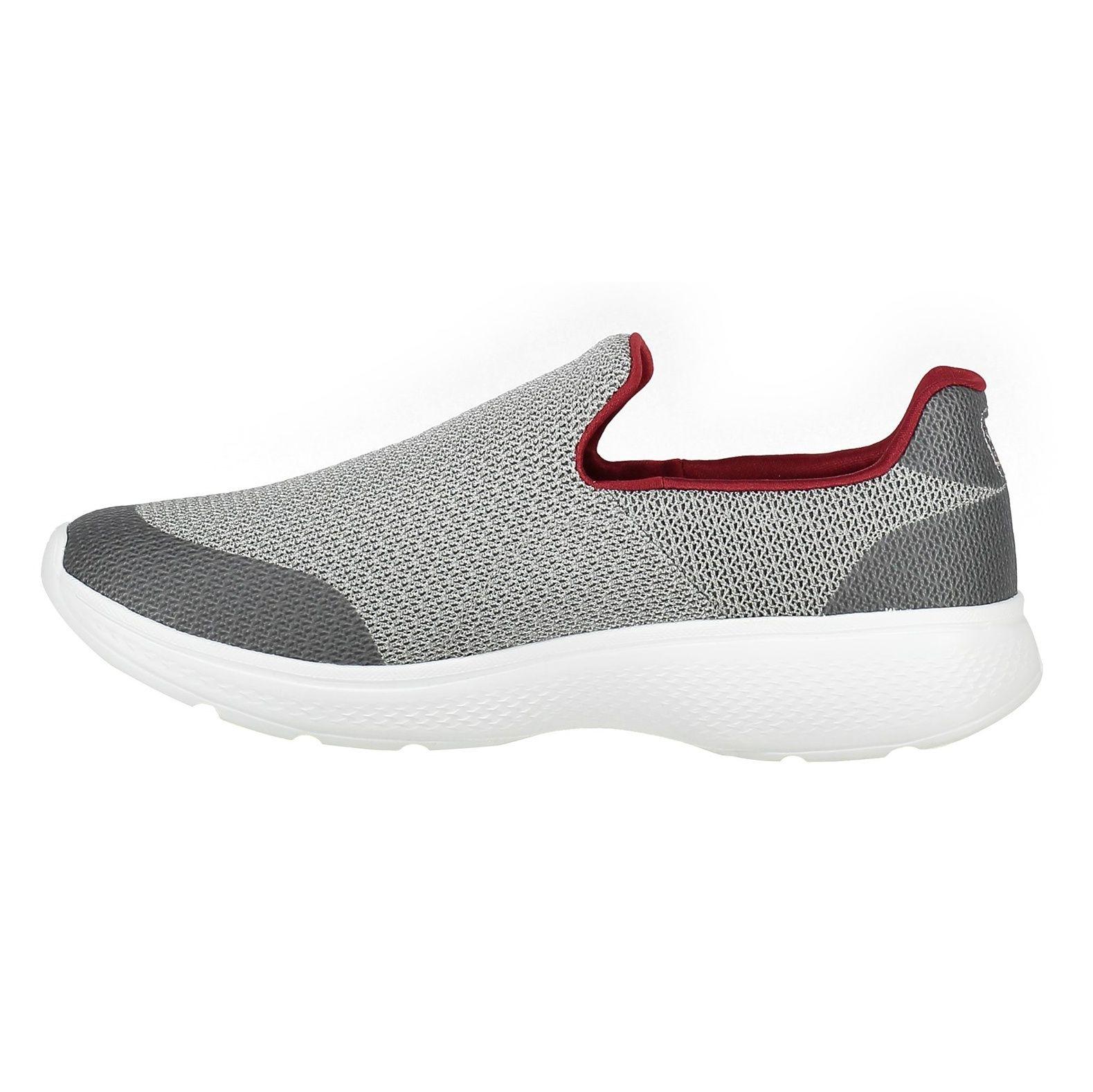 کفش پیاده روی پارچه ای مردانه GOwalk 4 Expert - اسکچرز - طوسي - 3