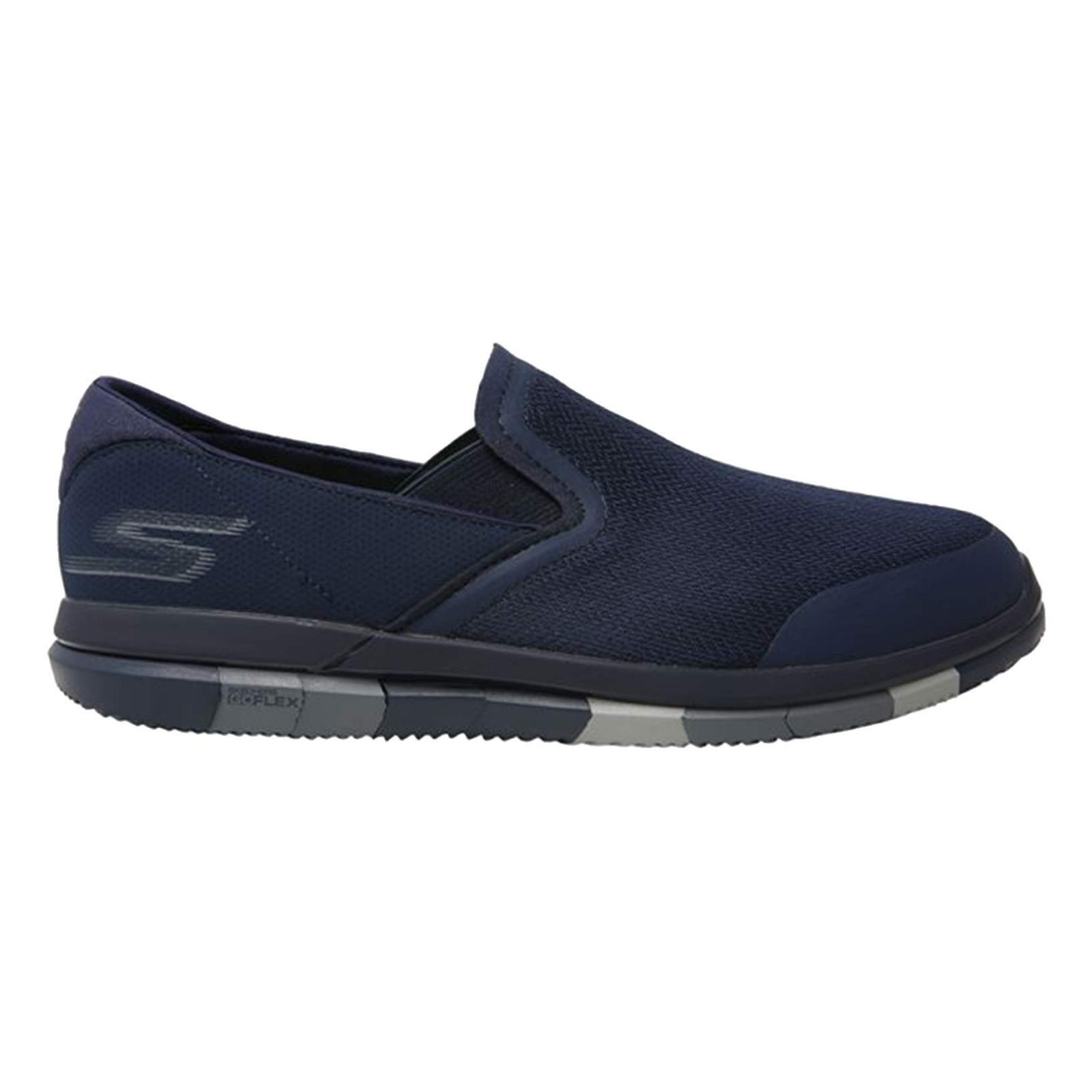 کفش پیاده روی پارچه ای مردانه GO FLEX Walk - اسکچرز - سرمه اي - 1
