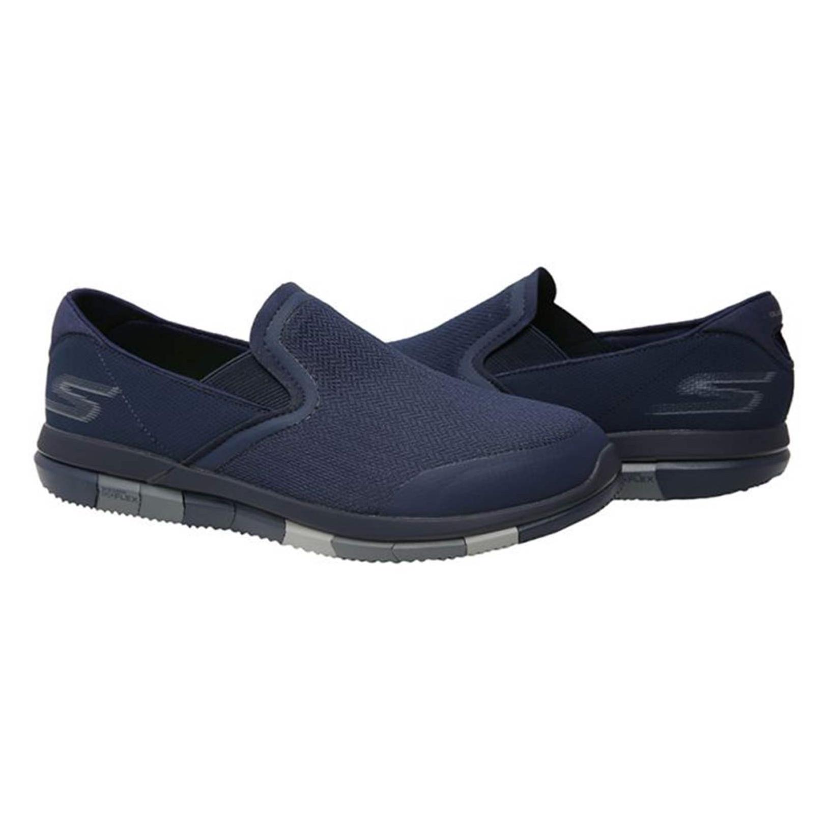 کفش پیاده روی پارچه ای مردانه GO FLEX Walk - اسکچرز - سرمه اي - 5