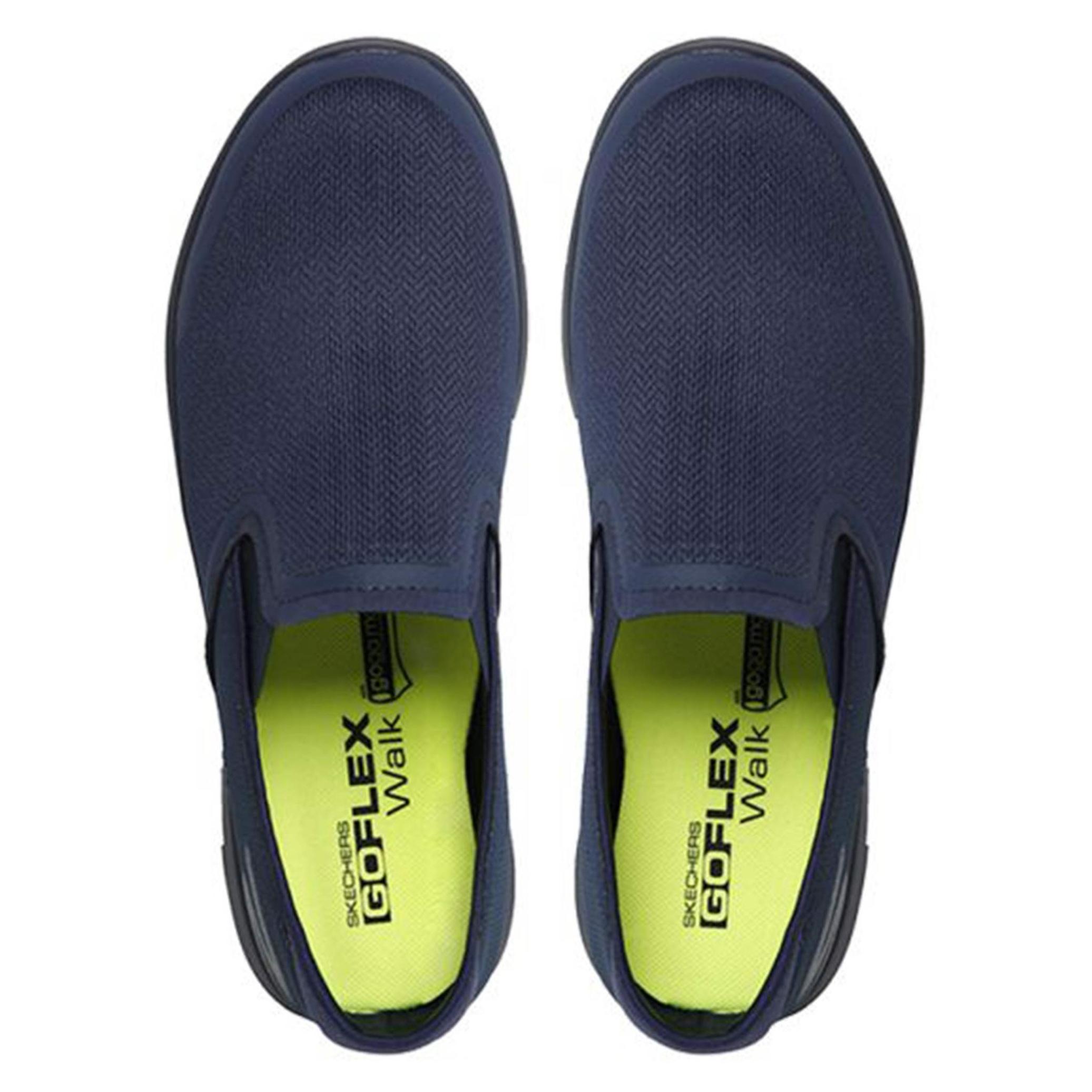 کفش پیاده روی پارچه ای مردانه GO FLEX Walk - اسکچرز - سرمه اي - 7