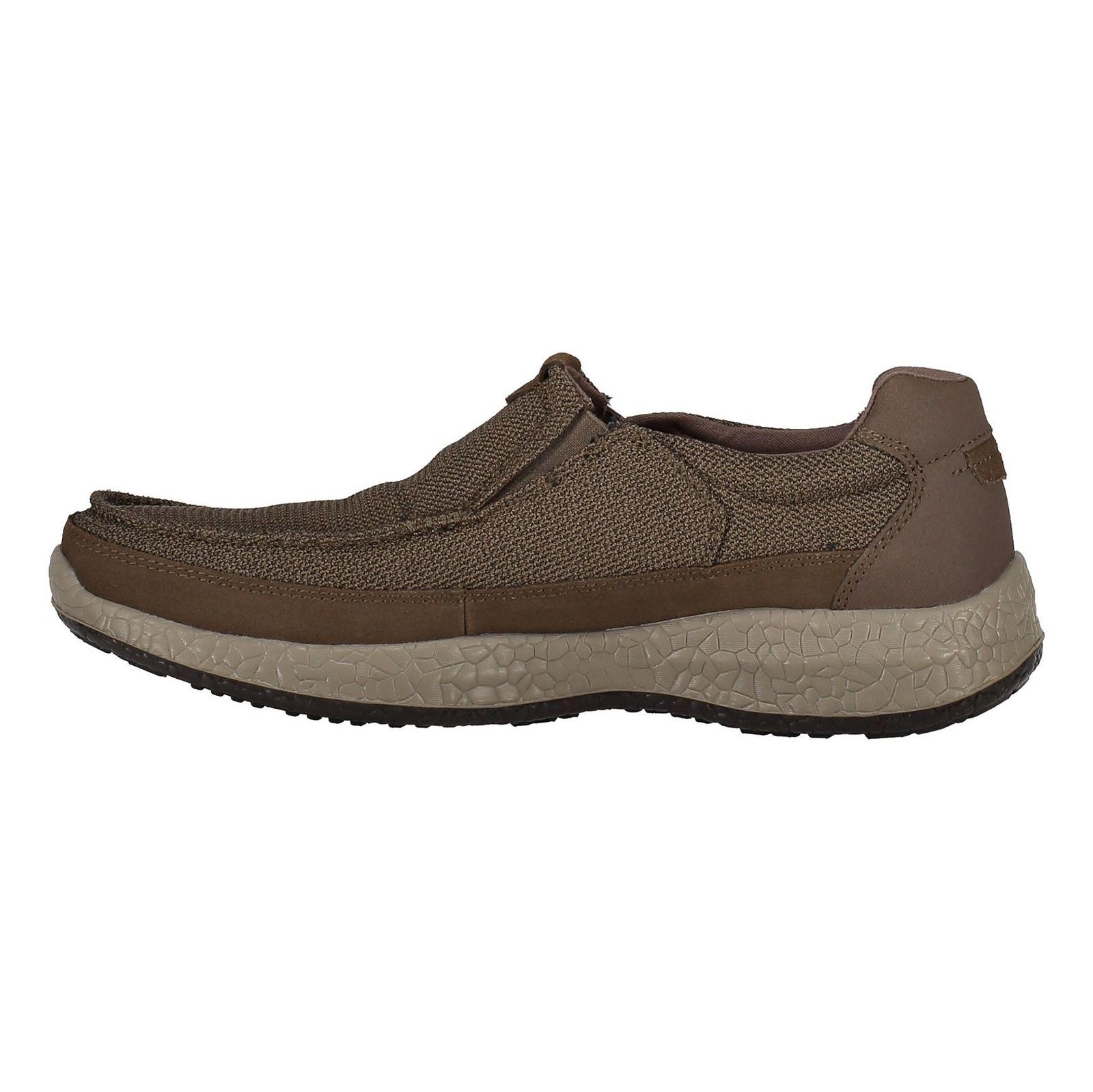 کفش راحتی پارچه ای مردانه Bursen Kinto - اسکچرز - قهوه اي روشن - 3