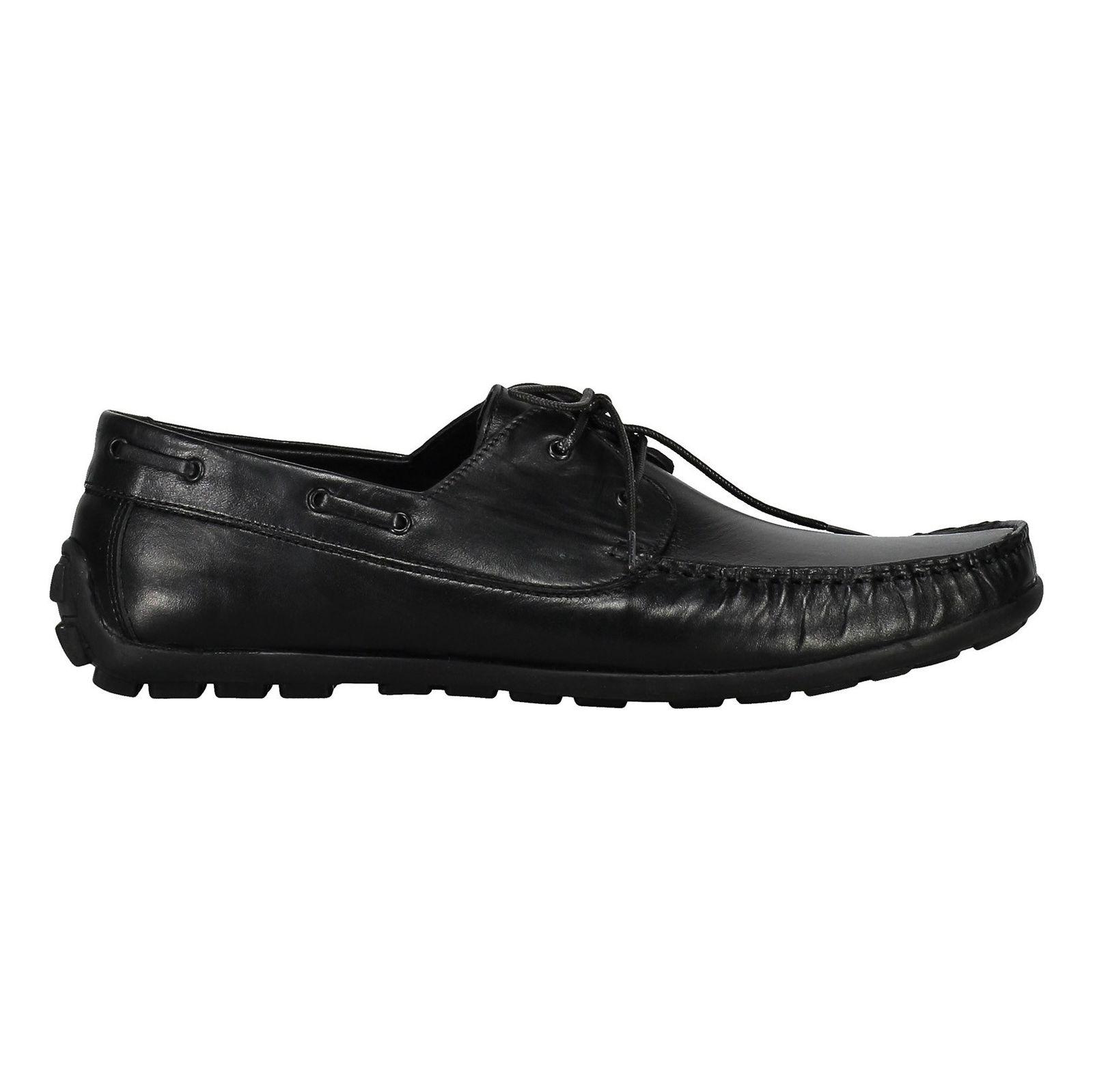 کفش اداری چرم مردانه - چرم مشهد - مشکي       - 1
