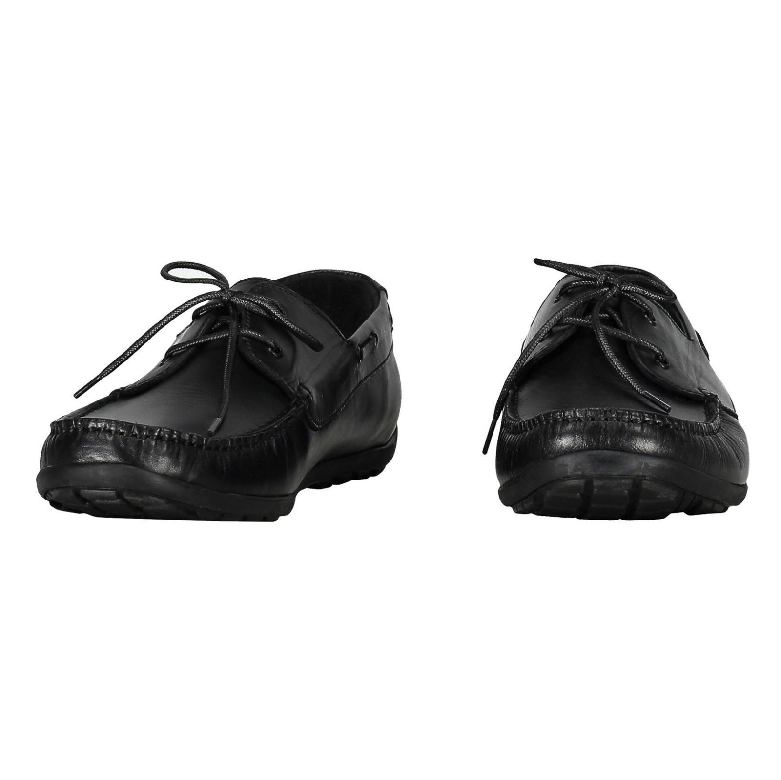 کفش اداری چرم مردانه - چرم مشهد - مشکي       - 4