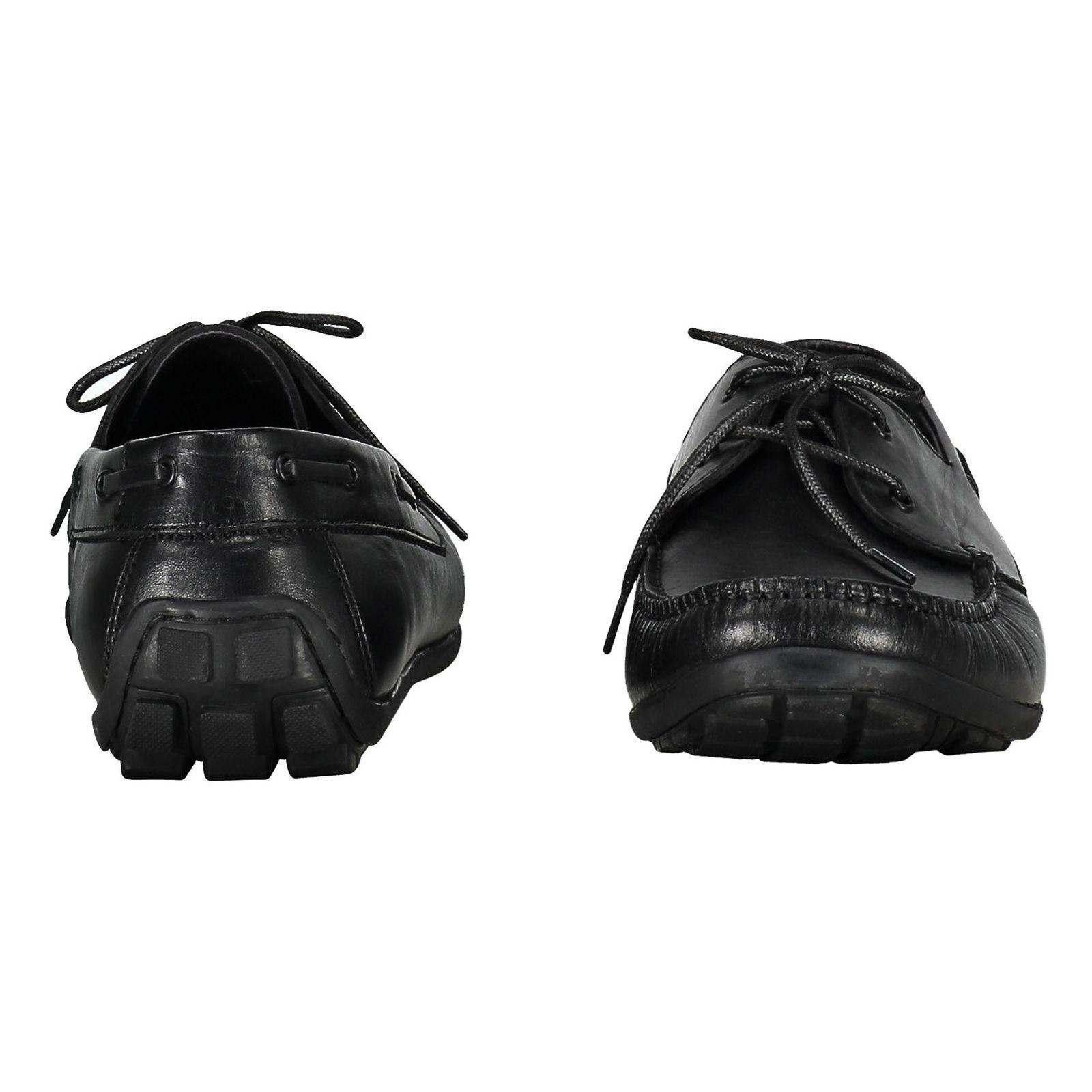 کفش اداری چرم مردانه - چرم مشهد - مشکي       - 5