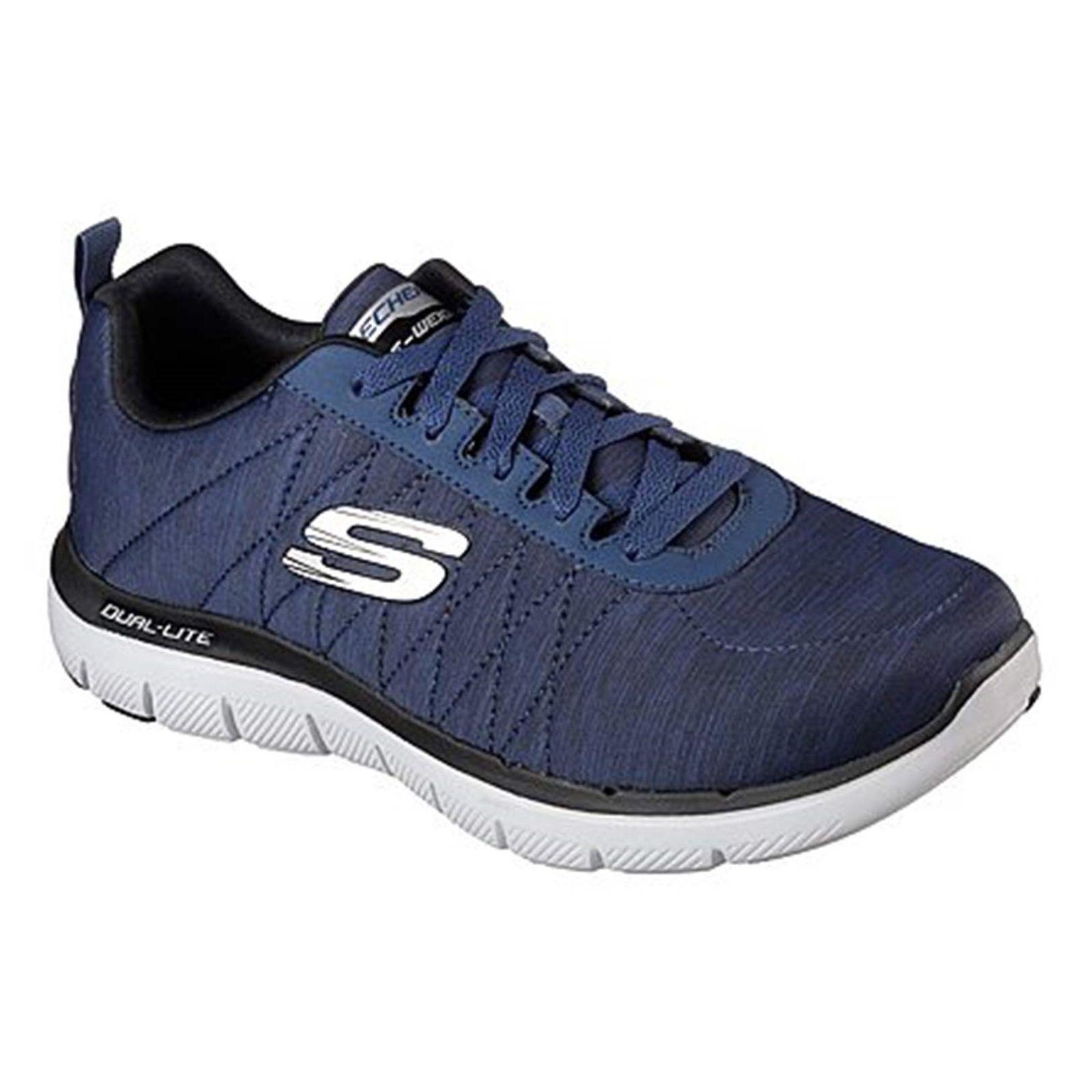 کفش تمرین بندی مردانه Flex Advantage 2-0 Chillston - اسکچرز - سرمه اي - 4