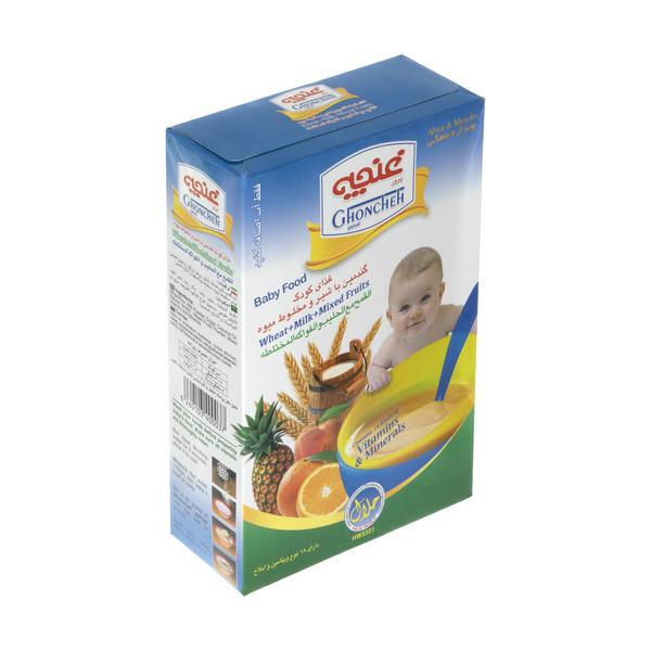غذا کودک گندمین غنچه پرور با طعم شیر و مخلوط میوه - 300 گرم
