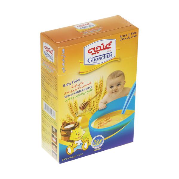 غذا کودک گندمین غنچه پرور با طعم شیر و عسل - 300 گرم