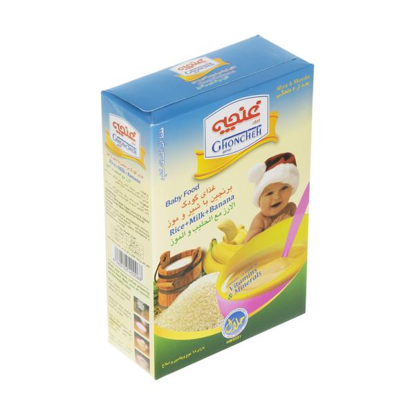 غذای کودک برنجین غنچه پرور با طعم شیر و موز - 300 گرم