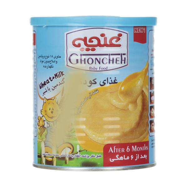 غذای کودک گندمین غنچه پرور با طعم شیر - 400 گرم