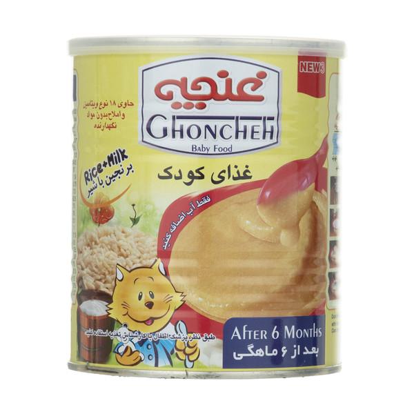غذای کودک برنجین غنچه پرور با طعم شیر - 400 گرم