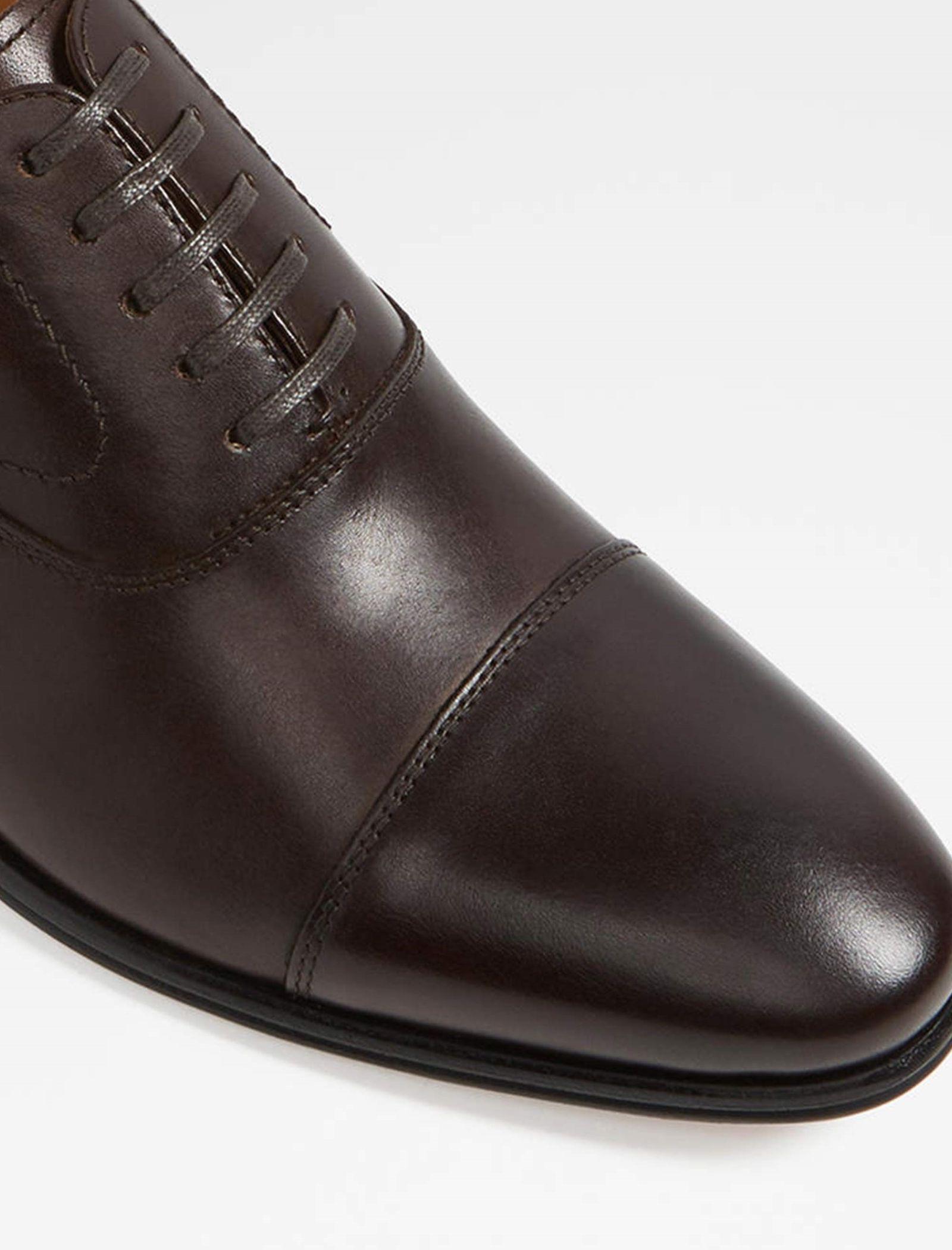 کفش رسمی چرم مردانه - آلدو - قهوه اي تيره - 4