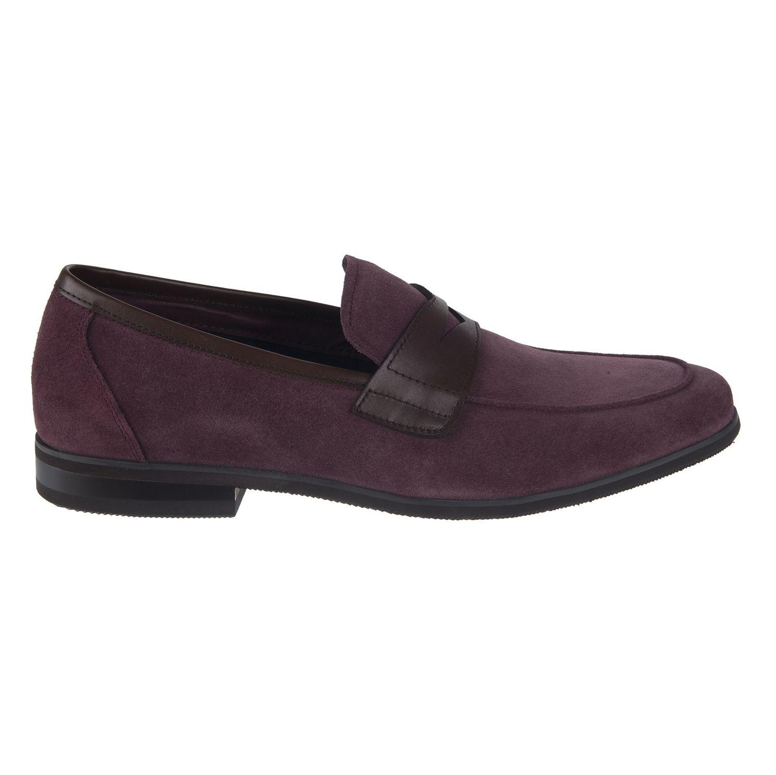 کفش چرم راحتی مردانه - بالدی - زرشکي - 1