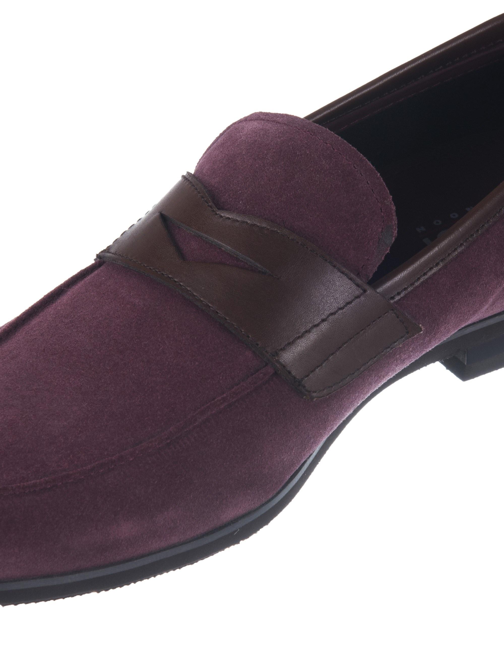 کفش چرم راحتی مردانه - بالدی - زرشکي - 5