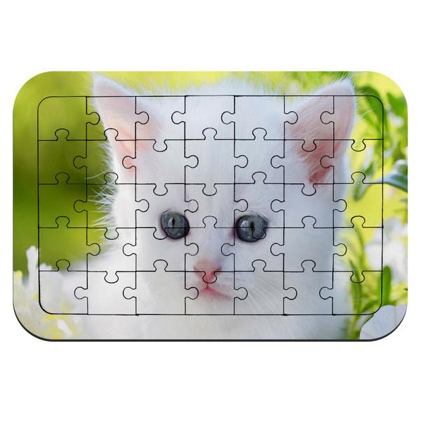 پازل 35 تکه طرح بچه گربه سفید مدل NI84