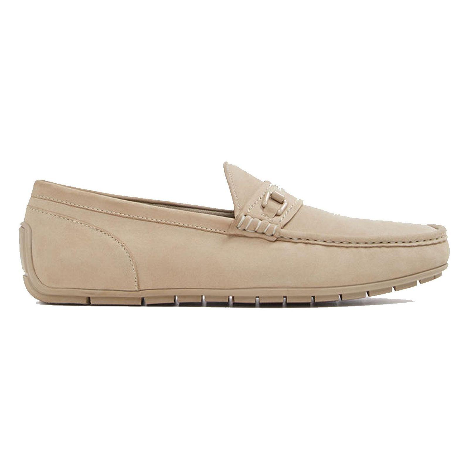 کفش چرم راحتی یکسره مردانه - آلدو - کرم - 1
