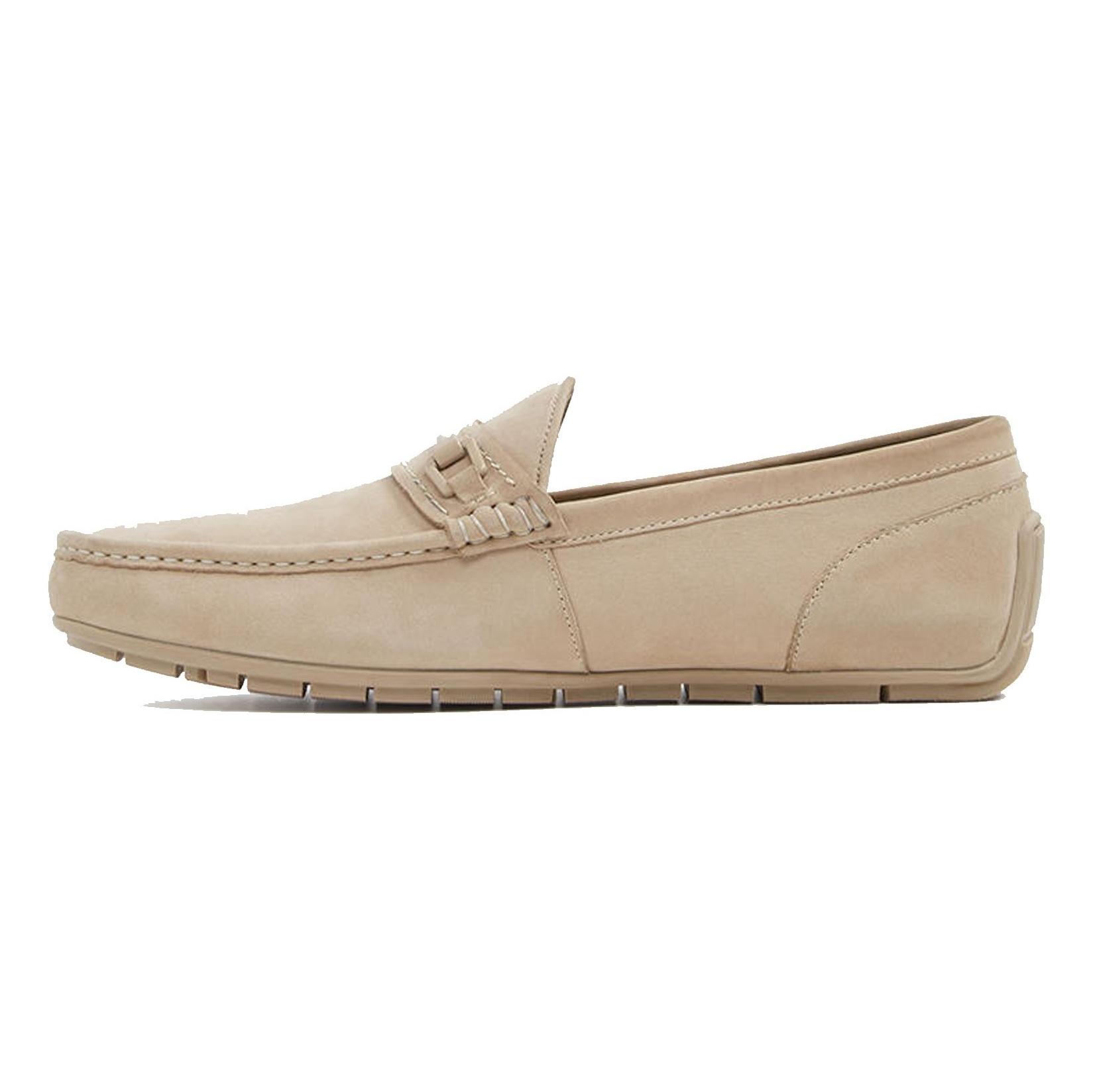 کفش چرم راحتی یکسره مردانه - آلدو - کرم - 2