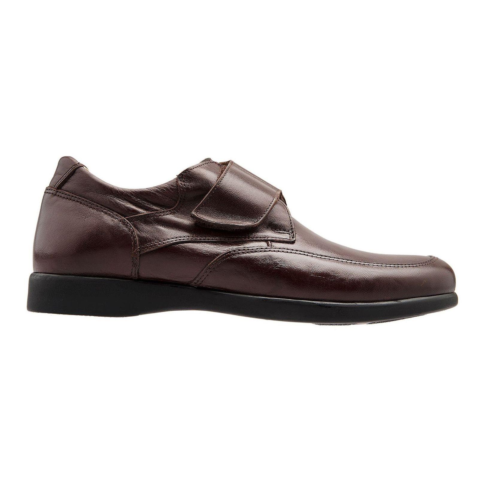 کفش اداری چرم مردانه - شهر چرم - قهوه اي - 1