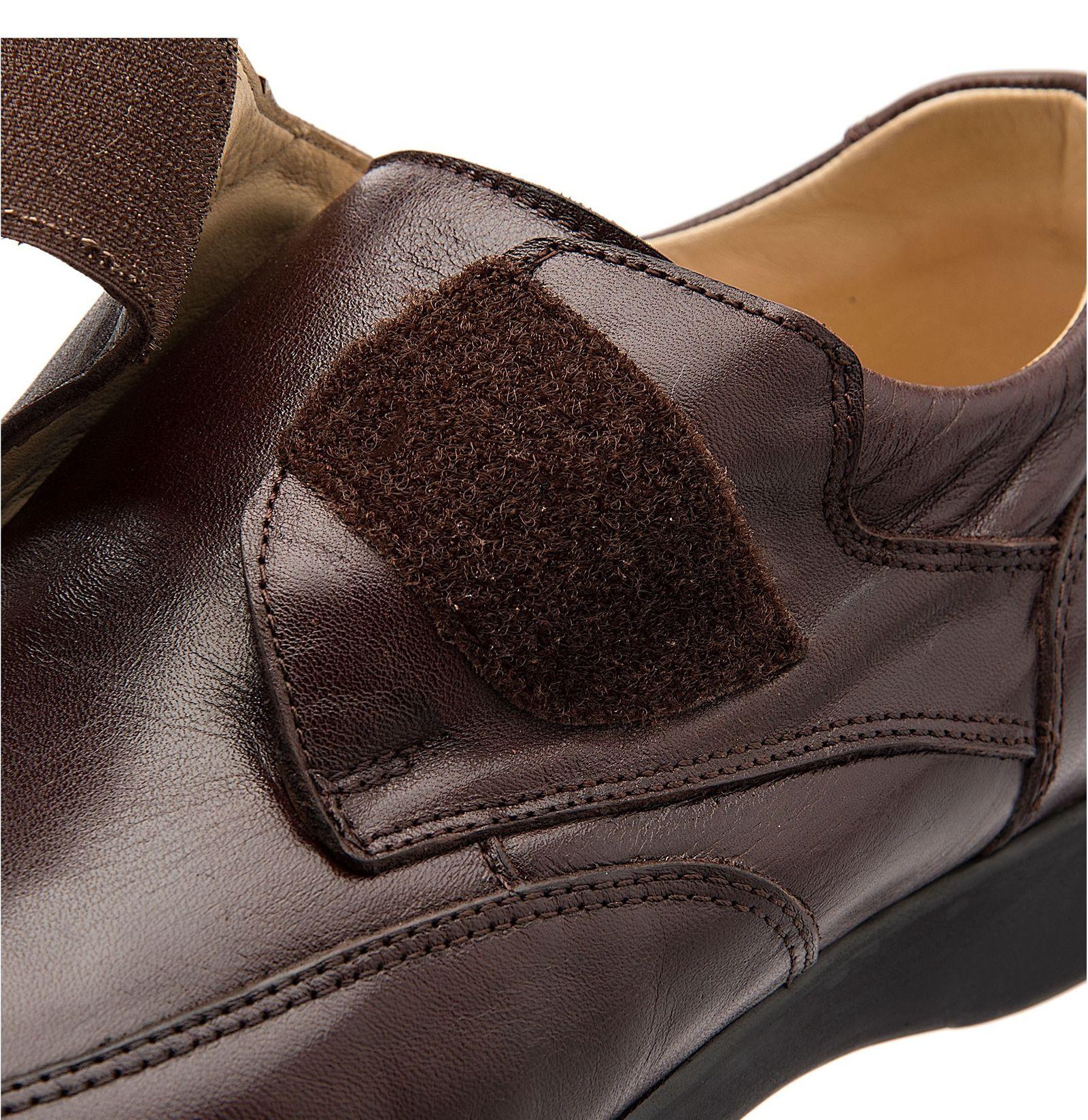 کفش اداری چرم مردانه - شهر چرم - قهوه اي - 5