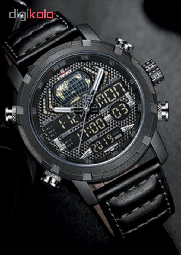 کد تخفیف                                      ساعت مچی عقربه ای مردانه نیوی فورس مدل NF9160 BGYB