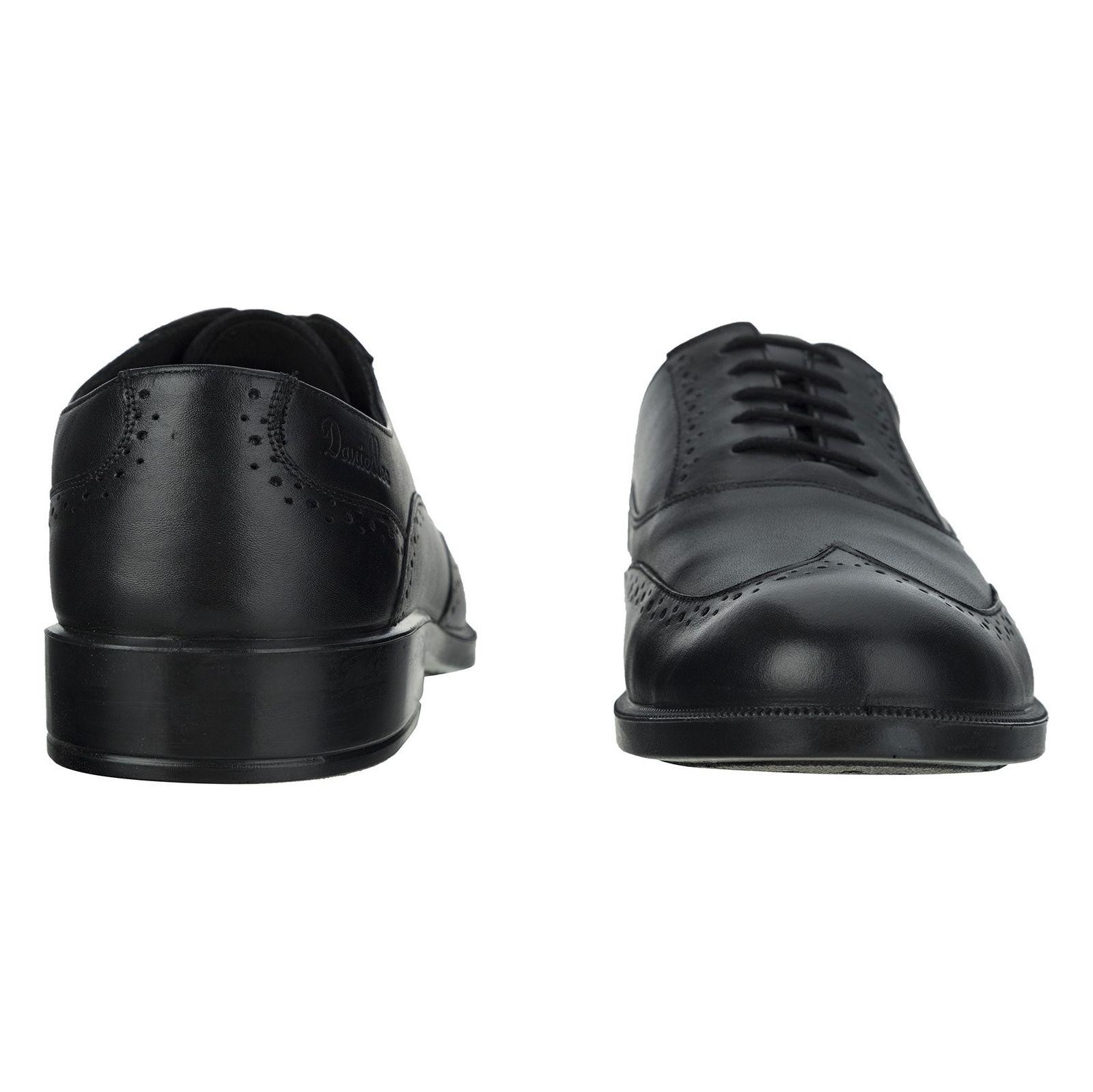کفش رسمی چرم مردانه Lazzaro - دنیلی - مشکي - 5