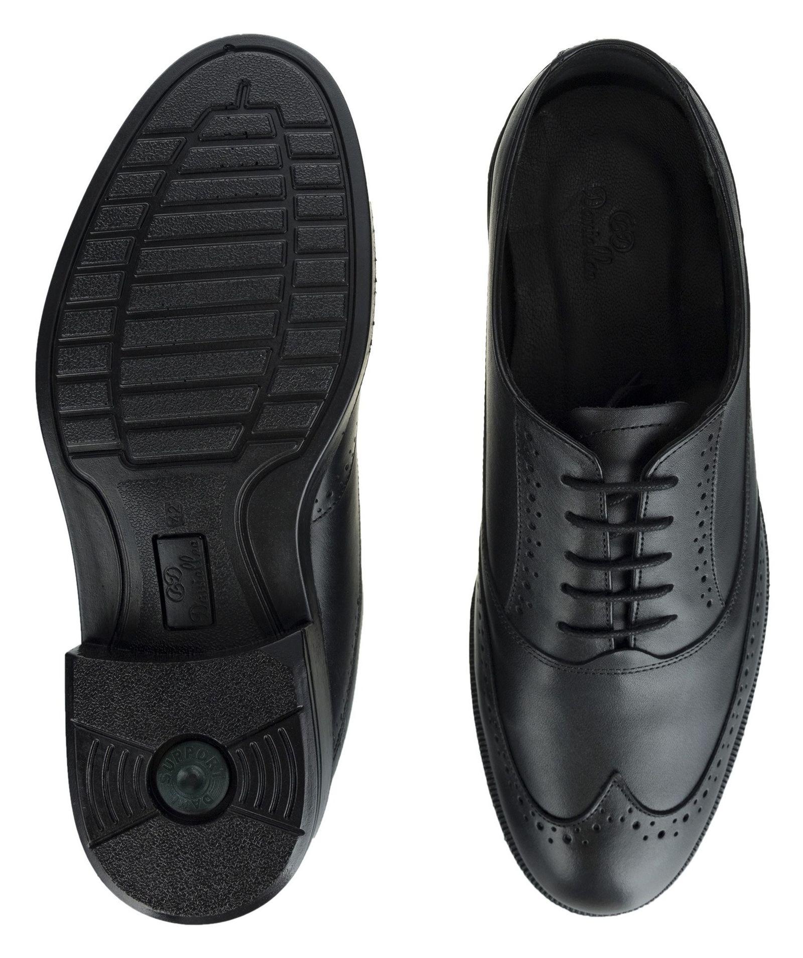 کفش رسمی چرم مردانه Lazzaro - دنیلی - مشکي - 6