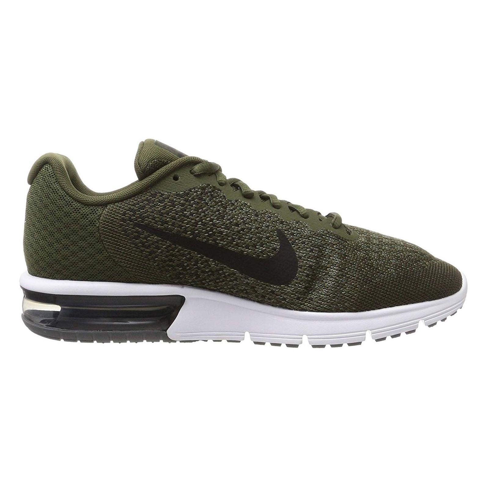 کفش دویدن بندی مردانه Air Max Sequent 2 - نایکی - زيتوني - 1