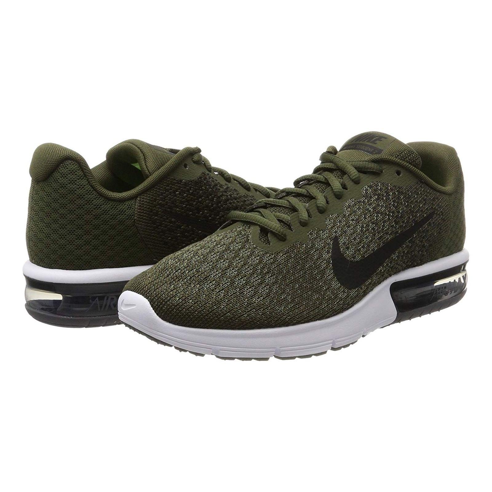 کفش دویدن بندی مردانه Air Max Sequent 2 - نایکی - زيتوني - 2