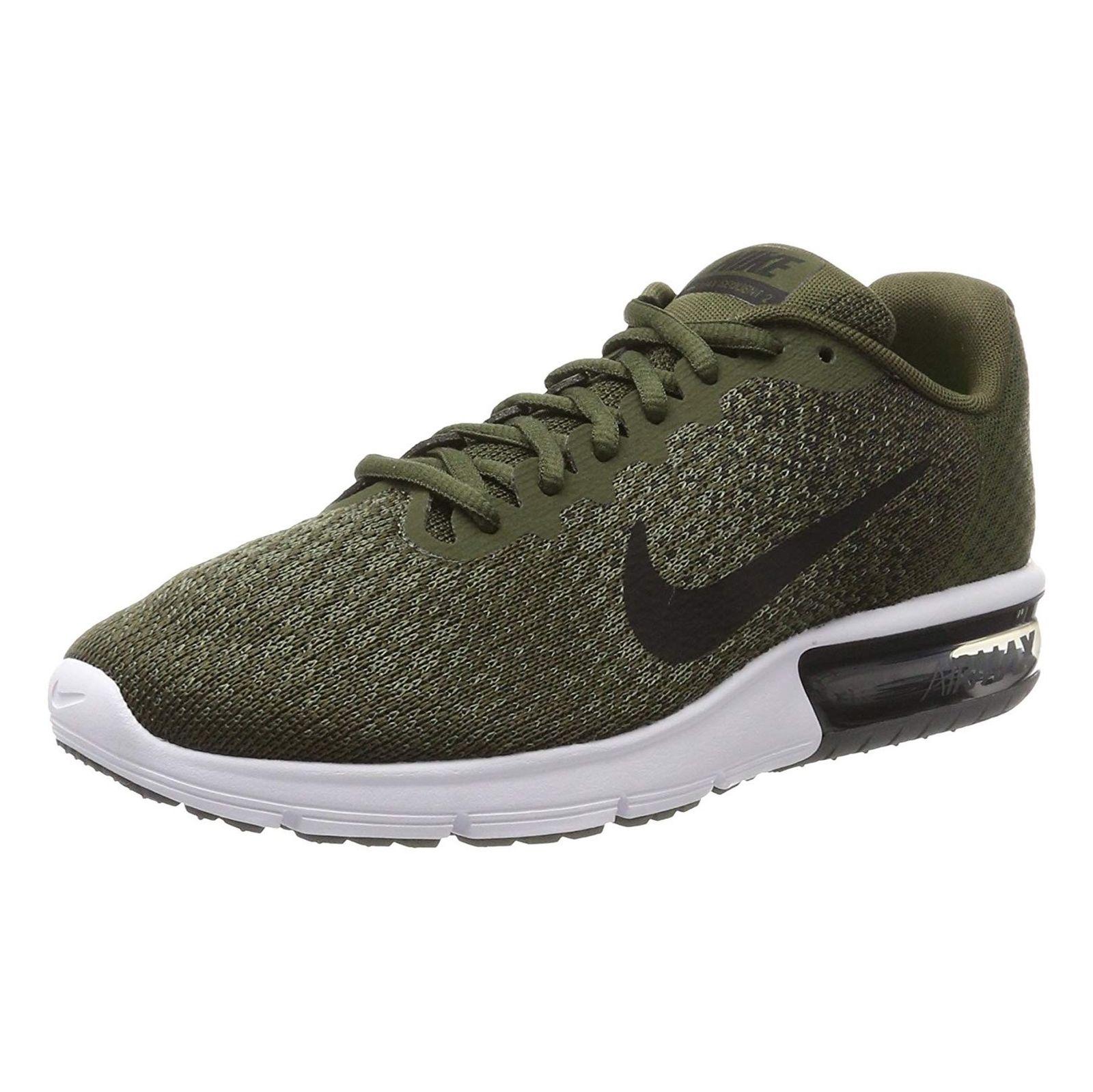 کفش دویدن بندی مردانه Air Max Sequent 2 - نایکی - زيتوني - 3