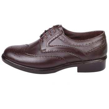 کفش مردانه طب نوین طرح هشترک کد 1702 رنگ قهوه ای