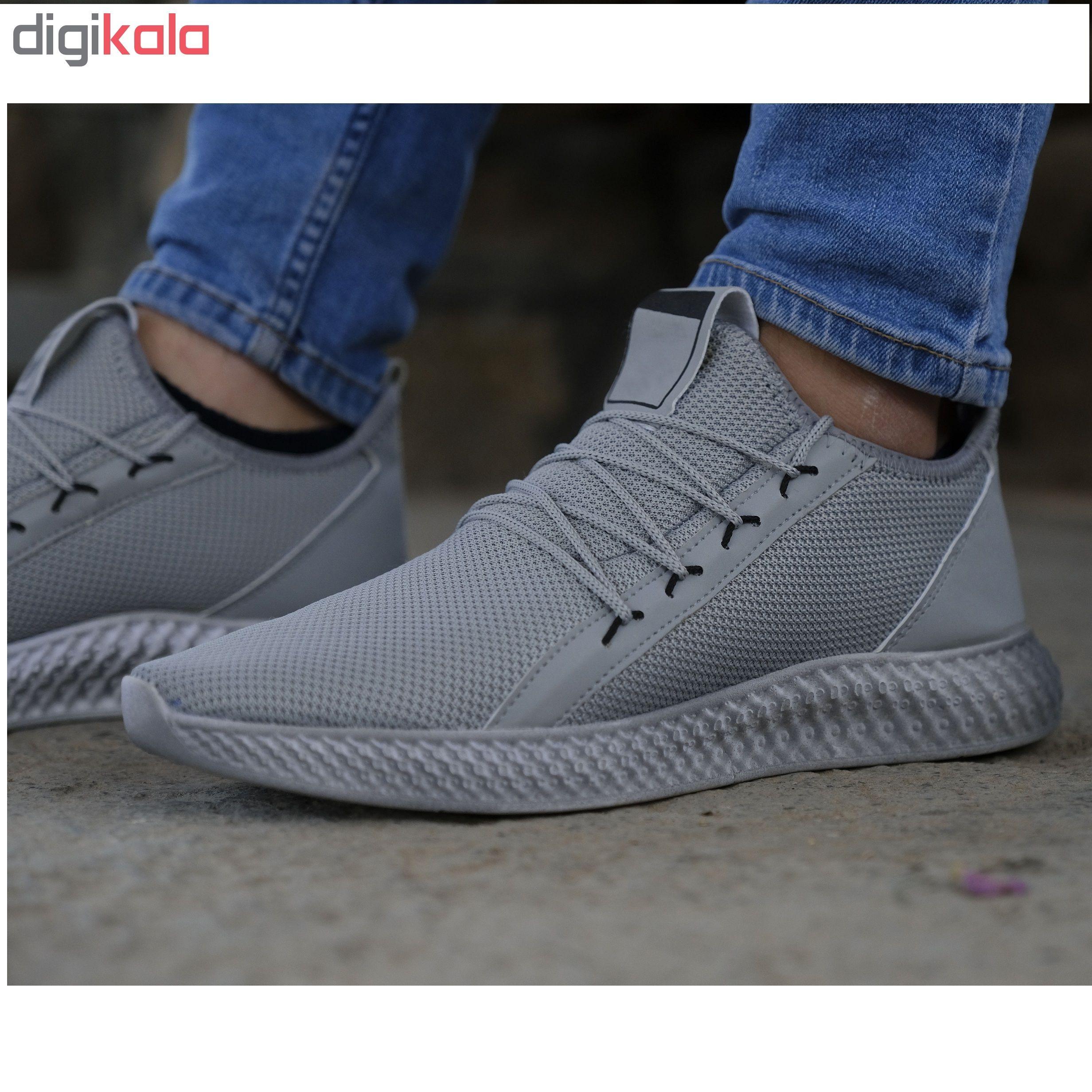 کفش مخصوص پیاده روی مردانه مدل adi-super رنگ طوسی main 1 4