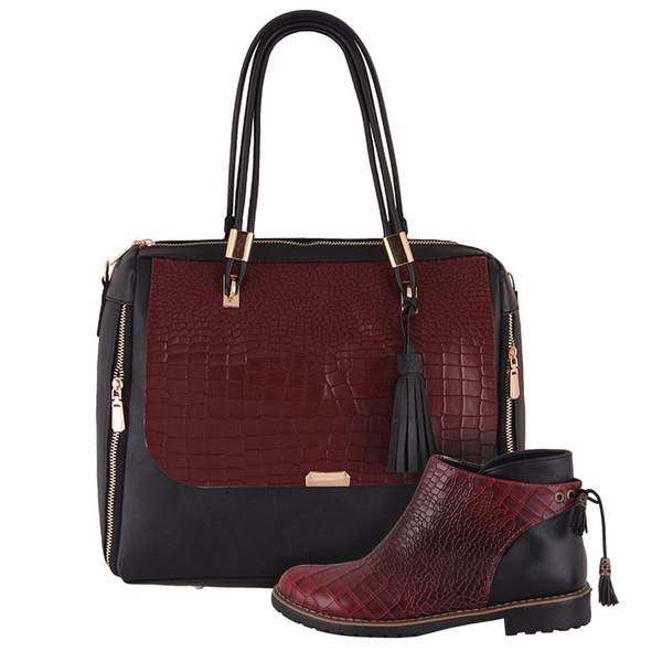 ست کیف و کفش زنانه دوک مدل 8-01363-01354