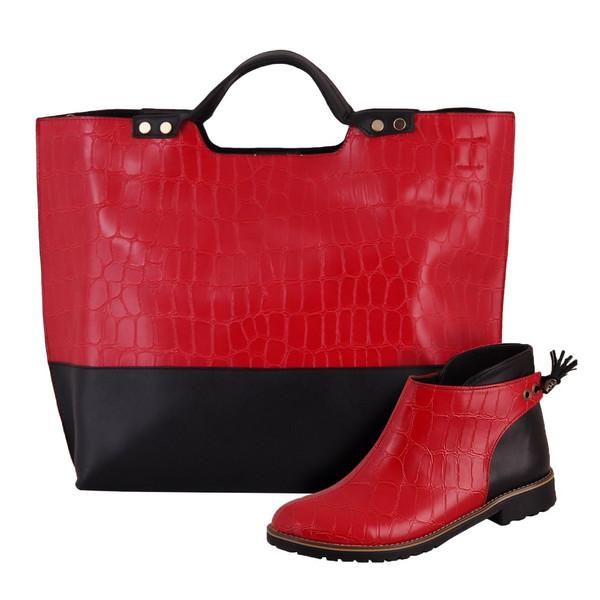 ست کیف و کفش زنانه دوک مدل 7-01363-1064