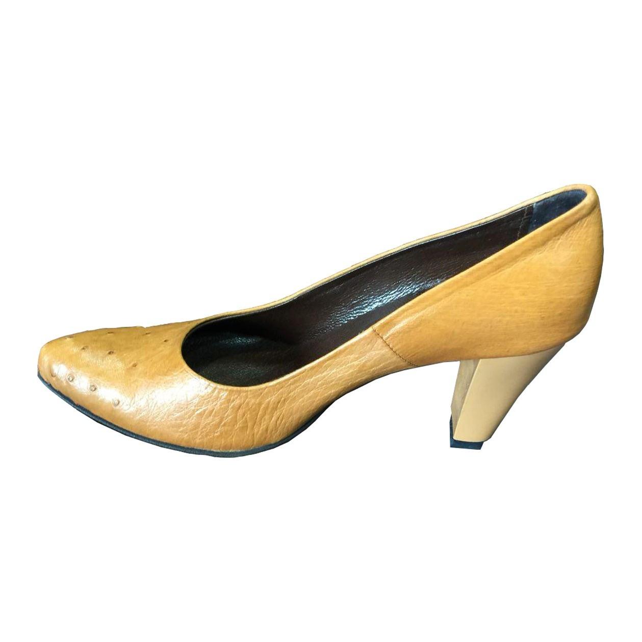 کفش پاشنه دار زنانه  چرم آلین مدل MW1